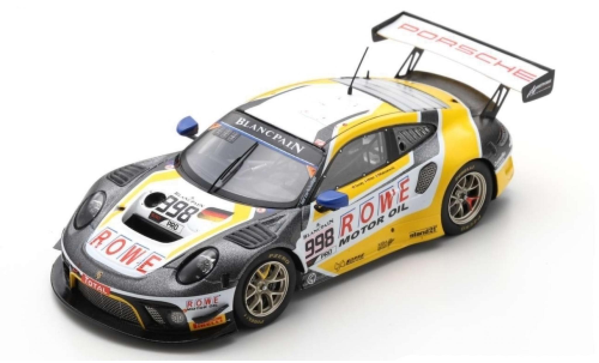 Porsche 992 GT3 R 1/43 Spark 911 (991) No.998 ROWE Racing 24h Spa 2019 F.Makowiecki/P.Pilet/N.Tandy