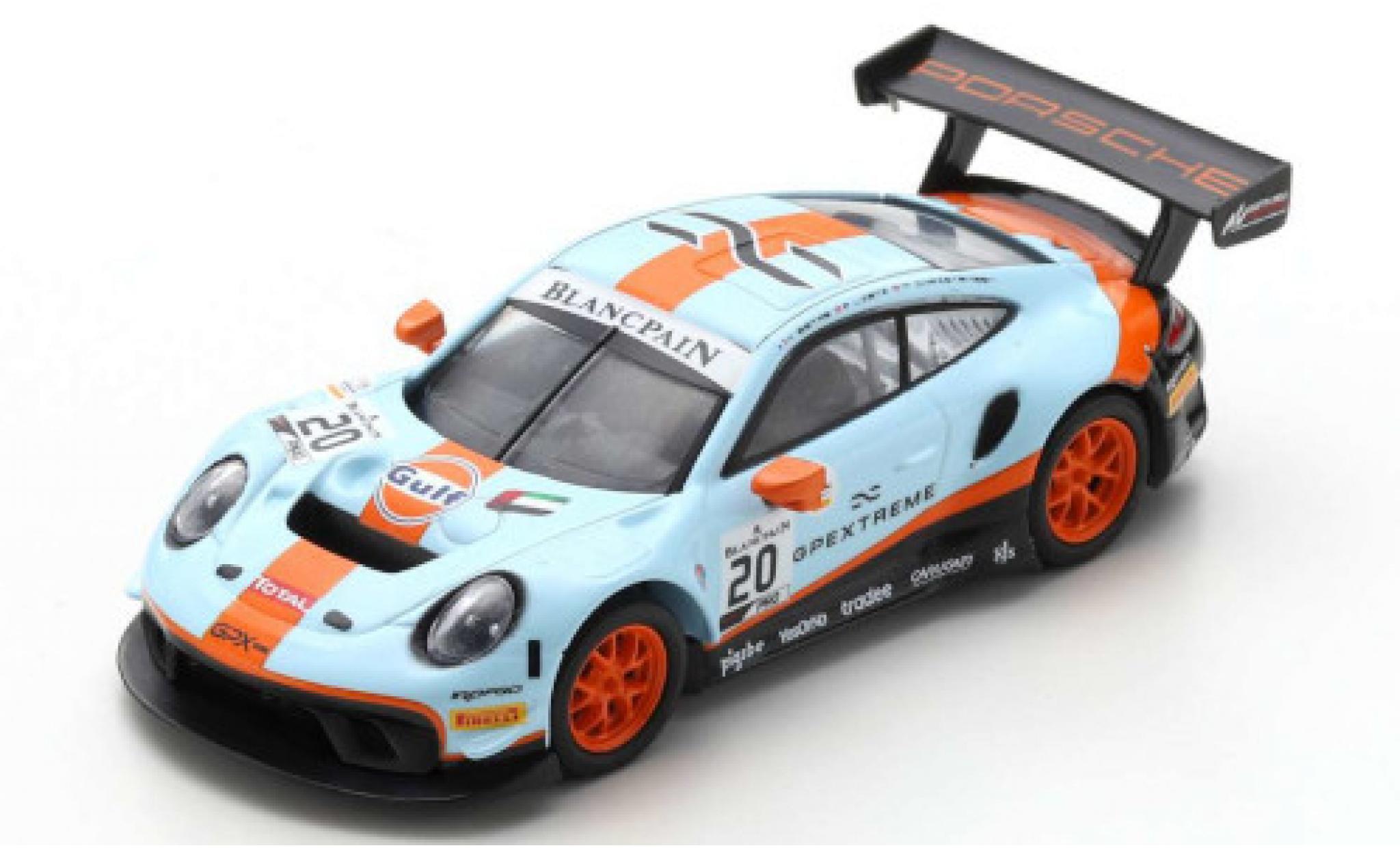 Porsche 992 GT3 R 1/43 Spark 911 No.20 GPX Racing Gulf 24h Spa 2019 R.Lietz/M.Christensen/K.Estre