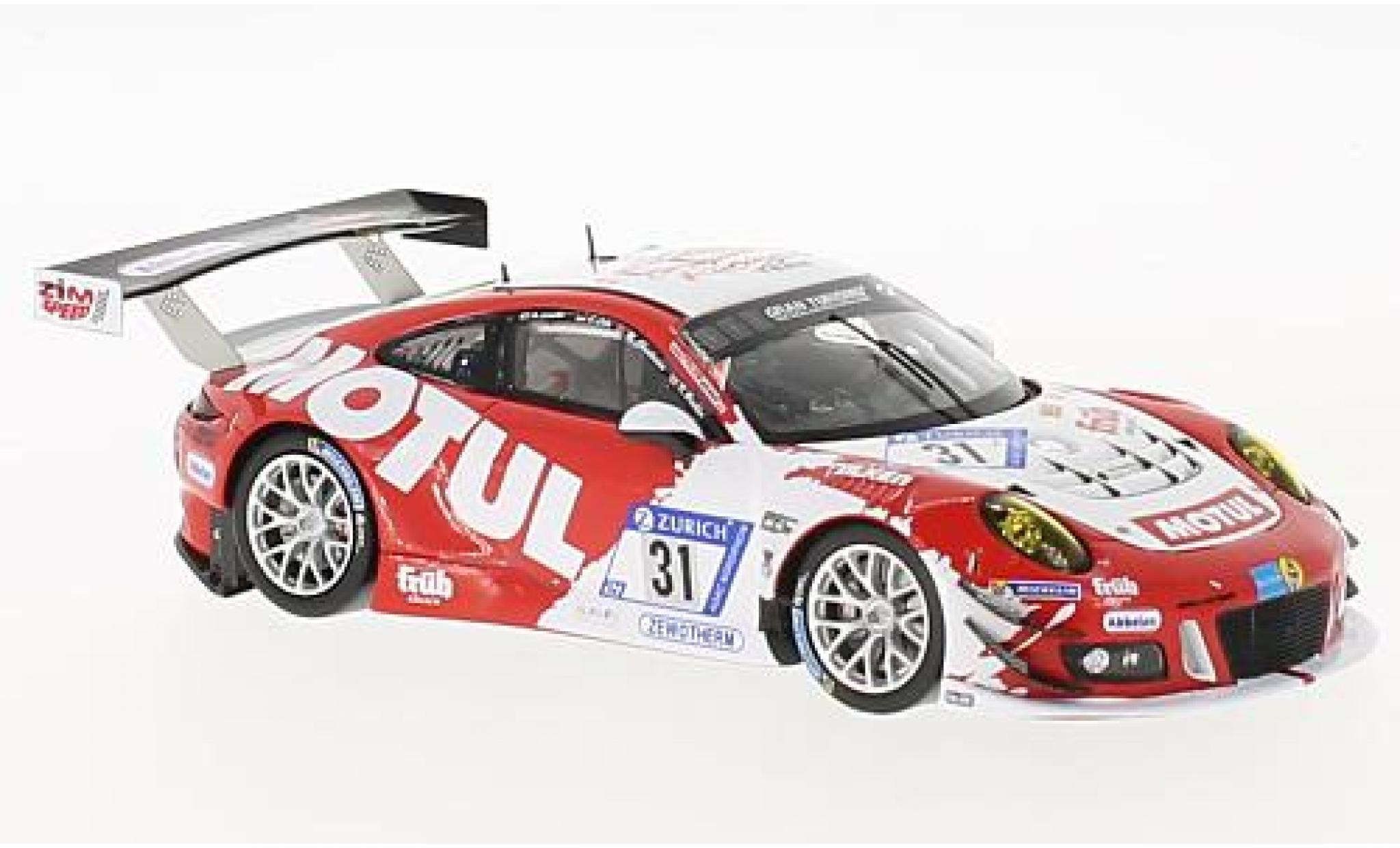 Porsche 991 GT3 R 1/18 Spark 911 No.31 Frikadelli Racing Team 24h Nürburgring 2017 M.Christensen/K.Bachler/N.Siedler/L.Luhr