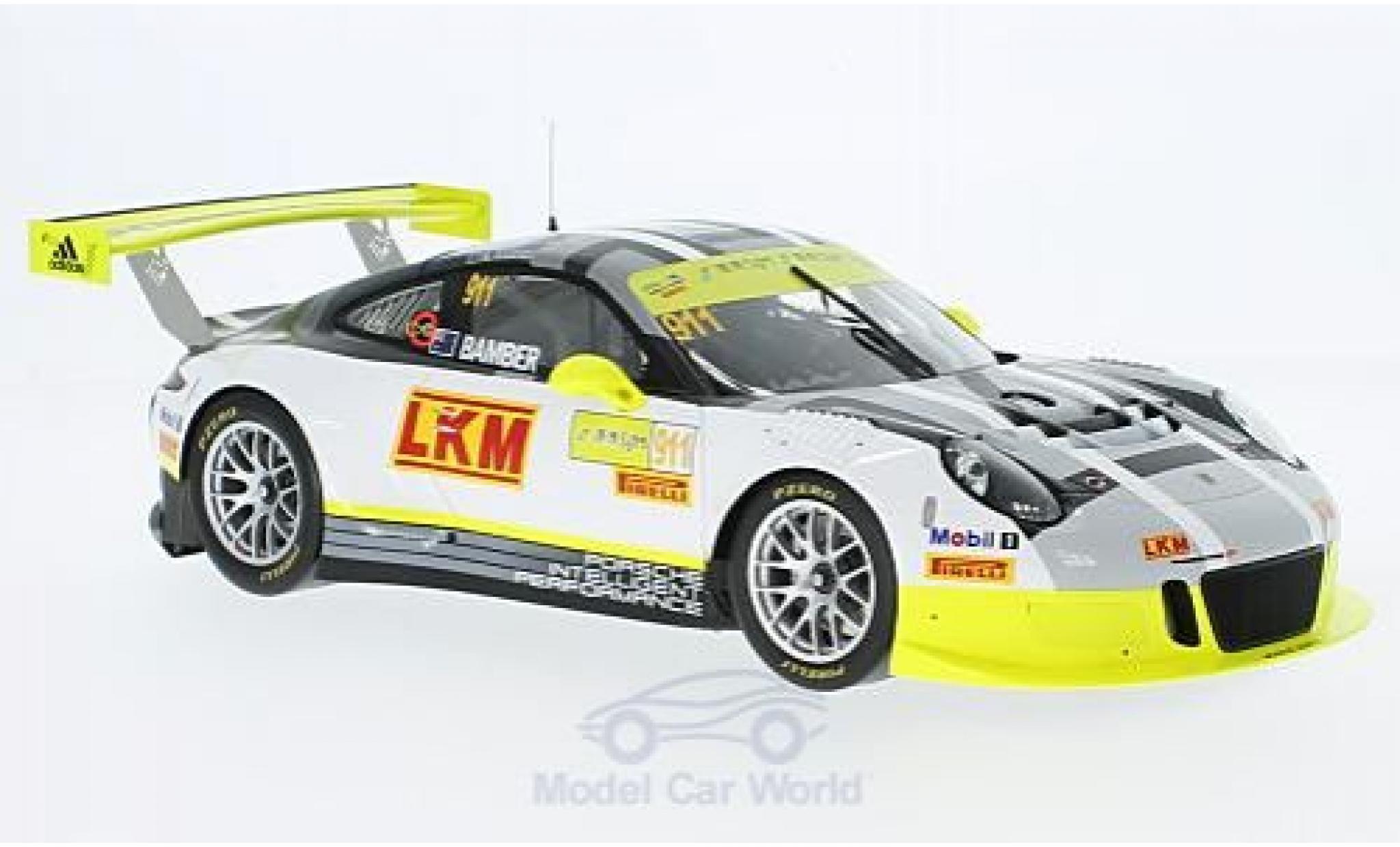 Porsche 991 GT3 R 1/18 Spark 911 No.911 GT Cup Macau 2016 E.Bamber