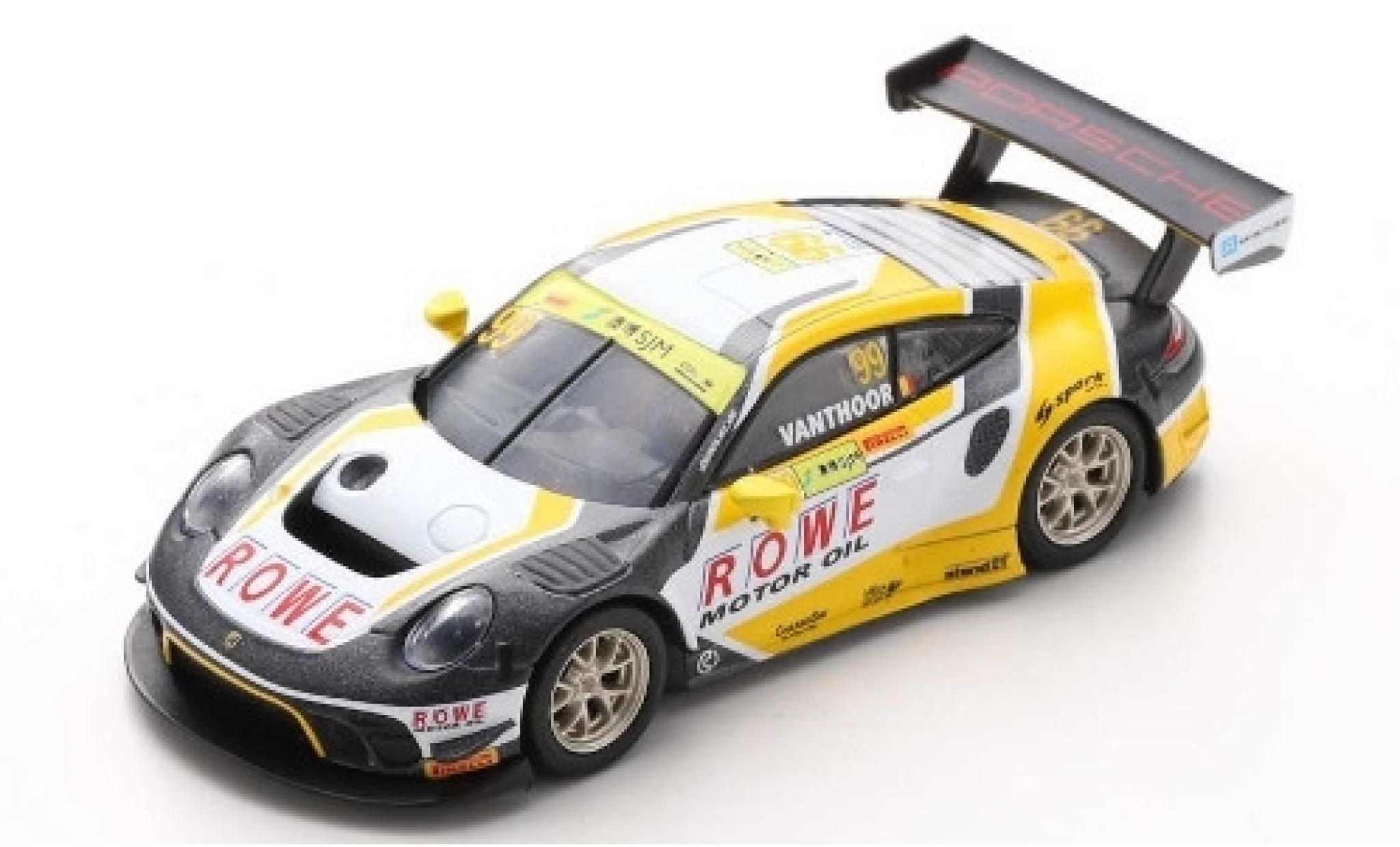 Porsche 992 GT3 R 1/64 Spark 911 No.99 ROWE Racing Fia GT World Cup Macau 2019 L.Vanthoor