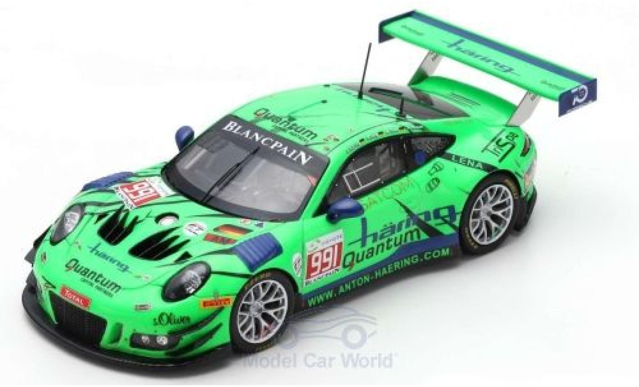 Porsche 911 1/43 Spark GT3 R No.991 Herberth Motorsport 24h Spa 2018 J.Häring/S.Görig/W.Triller/A.Renauer