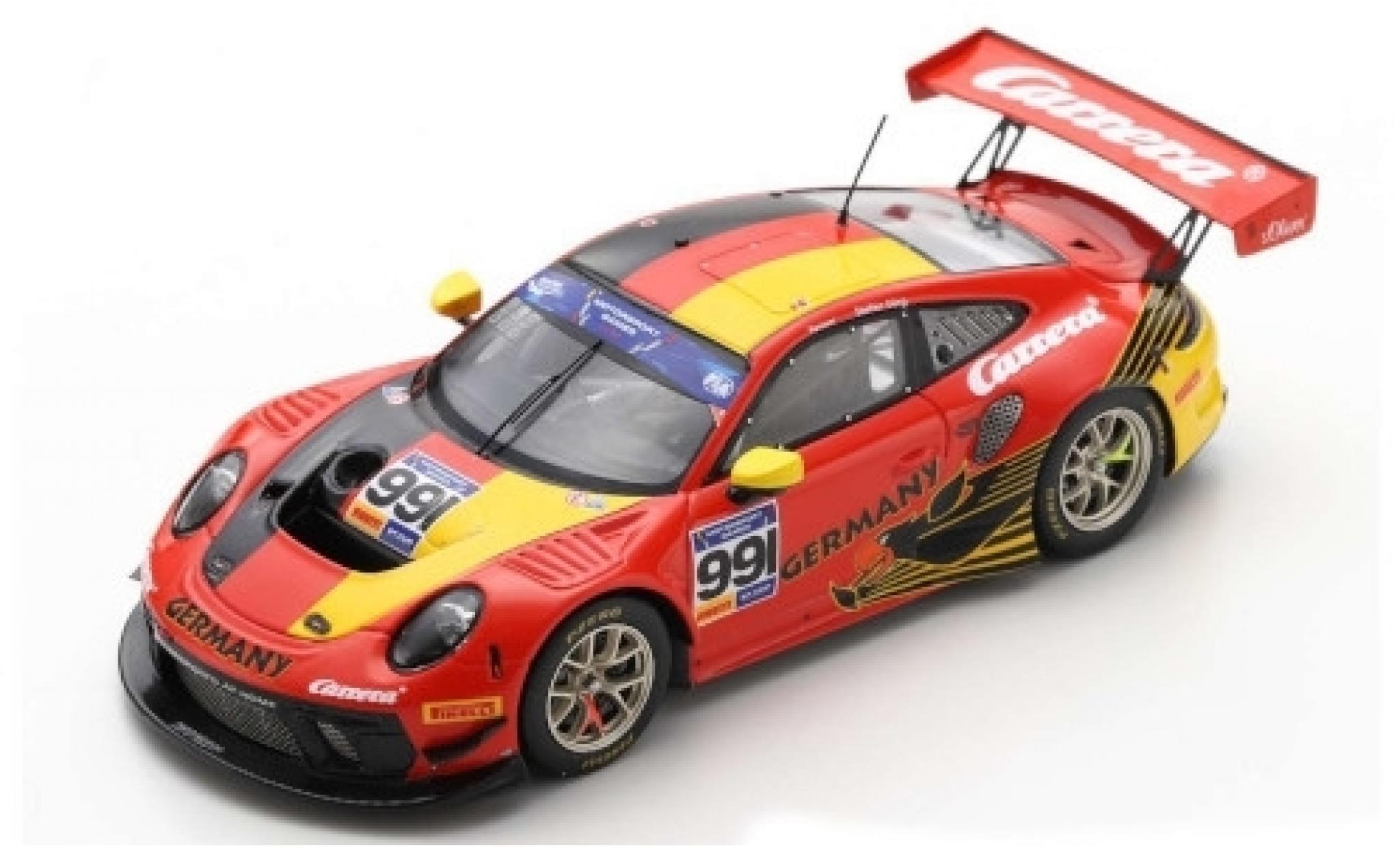 Porsche 992 GT3 R 1/43 Spark 911 No.991 Team Germany FIA Motorsport Games GT Cup Vallelunga 2019 S.Görig/A.Renauer