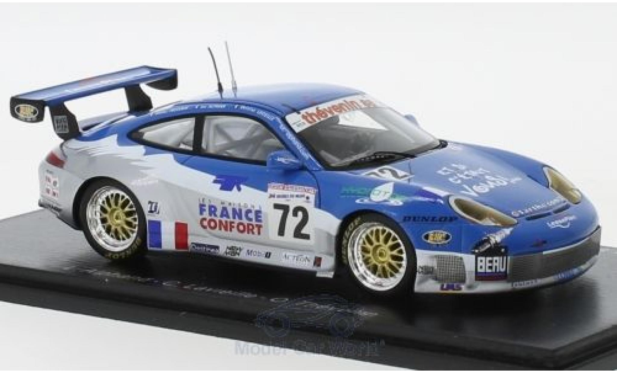 Porsche 996 GT3 RS 1/43 Spark 911 No.72 24h Le Mans 2002 L.Alphand/C.Lavieille/O.Thevenin