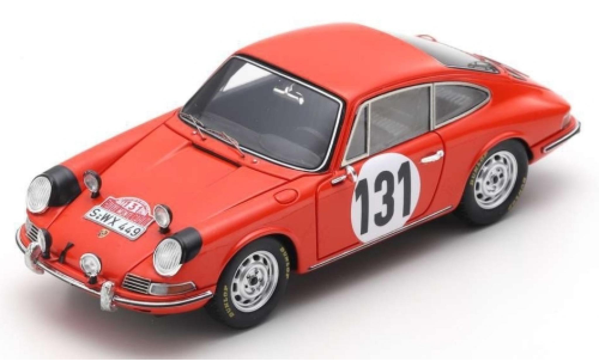 Porsche 911 1/43 Spark No.131 Rally Monte Carlo 1966 G.Klass/R.Wütherich