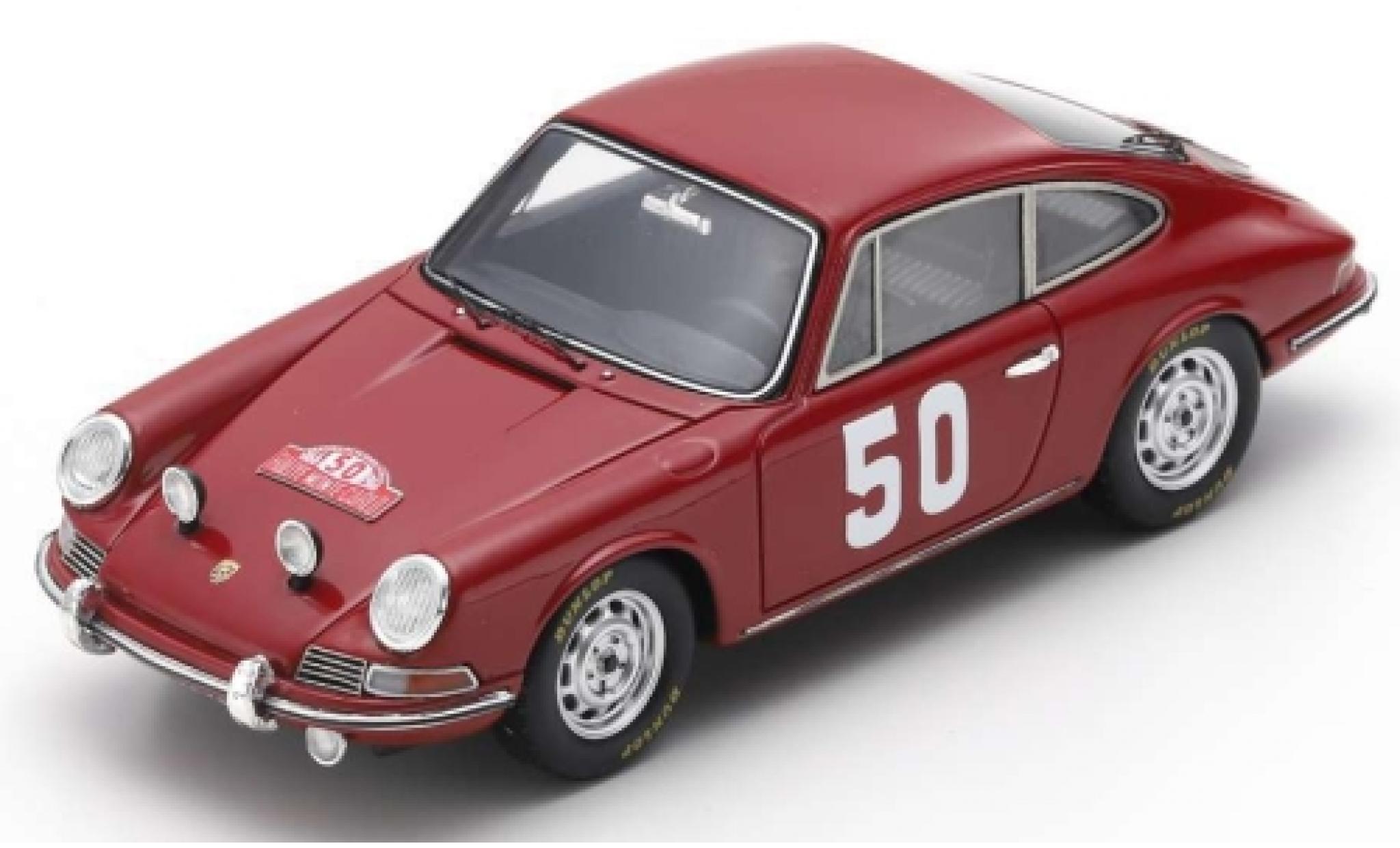 Porsche 911 1/43 Spark No.50 Rally Monte Carlo 1966 H.Perrier/P.du Pasquier