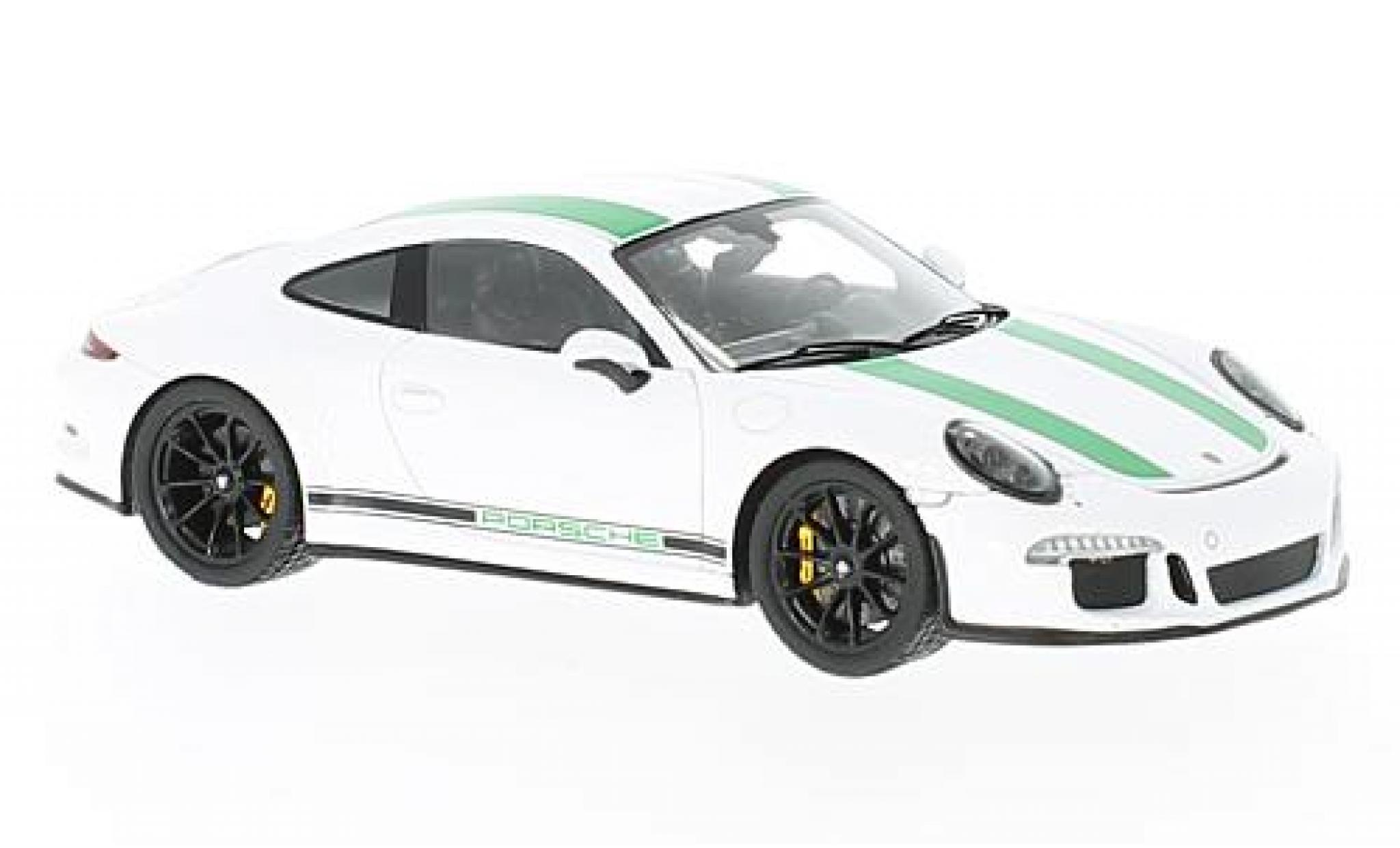 Porsche 991 R 1/43 Spark 911 blanco/verde 2017