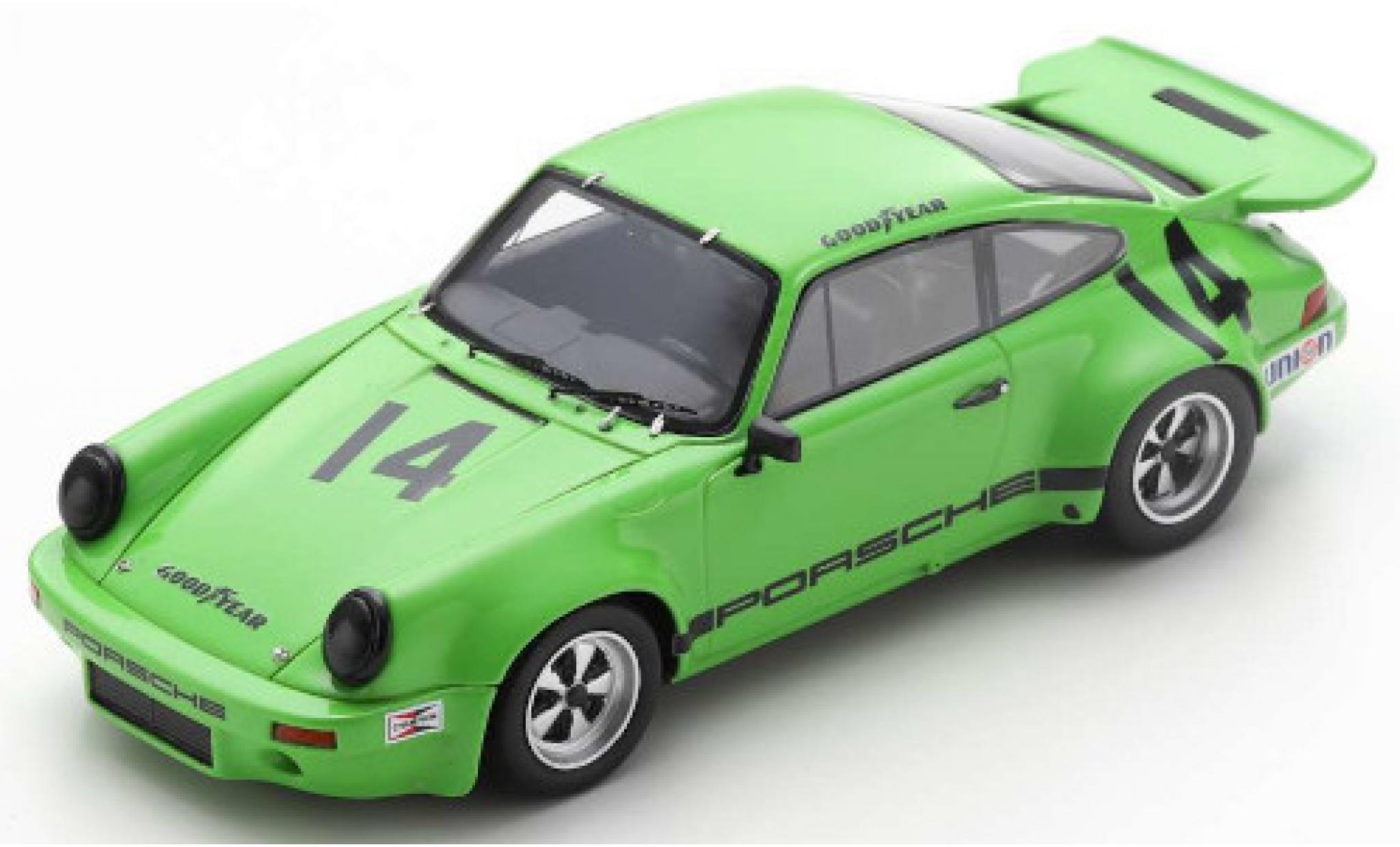 Porsche 911 1/43 Spark RS 3.0 No.14 IROC Riverside 1973 E.Fittipaldi