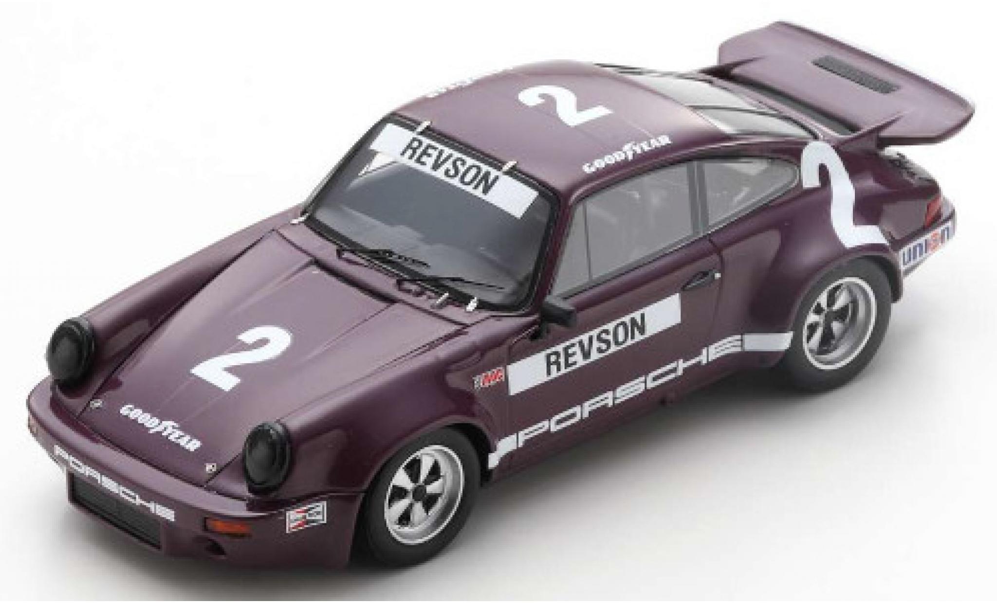 Porsche 930 RS 1/43 Spark 911 3.0 No.2 IROC Daytona 1974 P.Revson