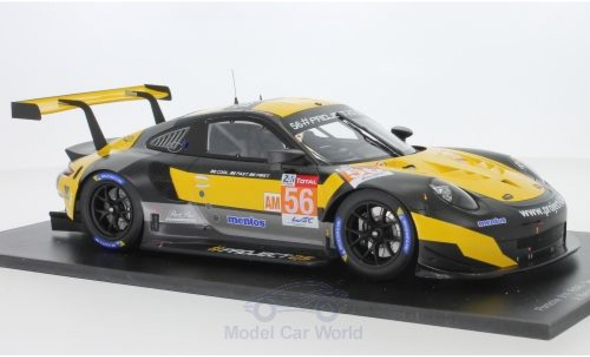Porsche 991 RSR 1/18 Spark 911 No.56 Team Project 1 24h Le Mans 2018 J.Bergmeister/P.Lindsey/E.Perfetti