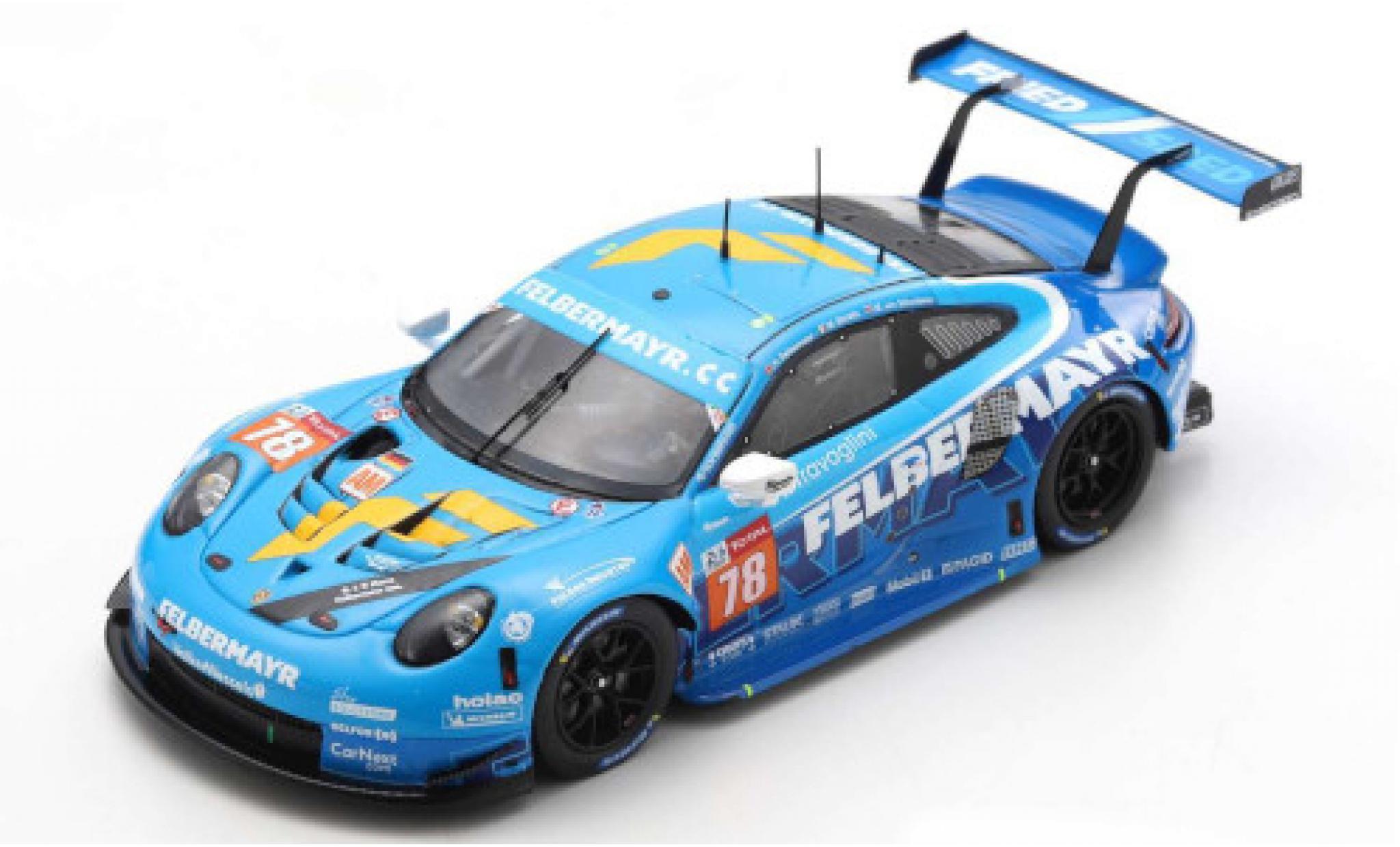 Porsche 992 RSR 1/43 Spark 911 No.78 Predon Competition 24h Le Mans 2020 M.Beretta/H.Felbermayr Jr./M.van Splunteren