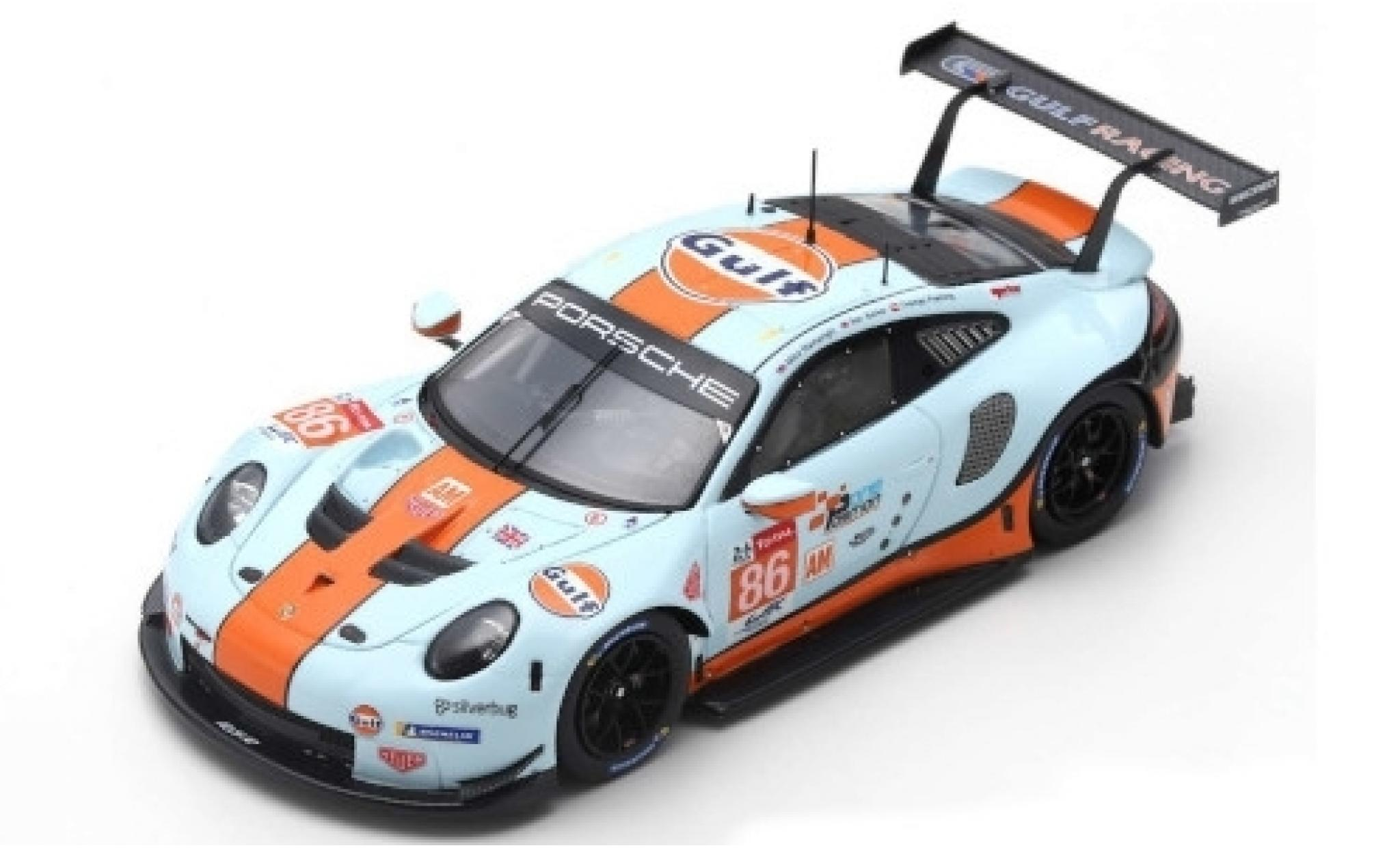 Porsche 992 RSR 1/87 Spark 911 No.86 Gulf Racing Gulf 24h Le Mans 2019 M.Wainwright/B.Barker/T.Preining