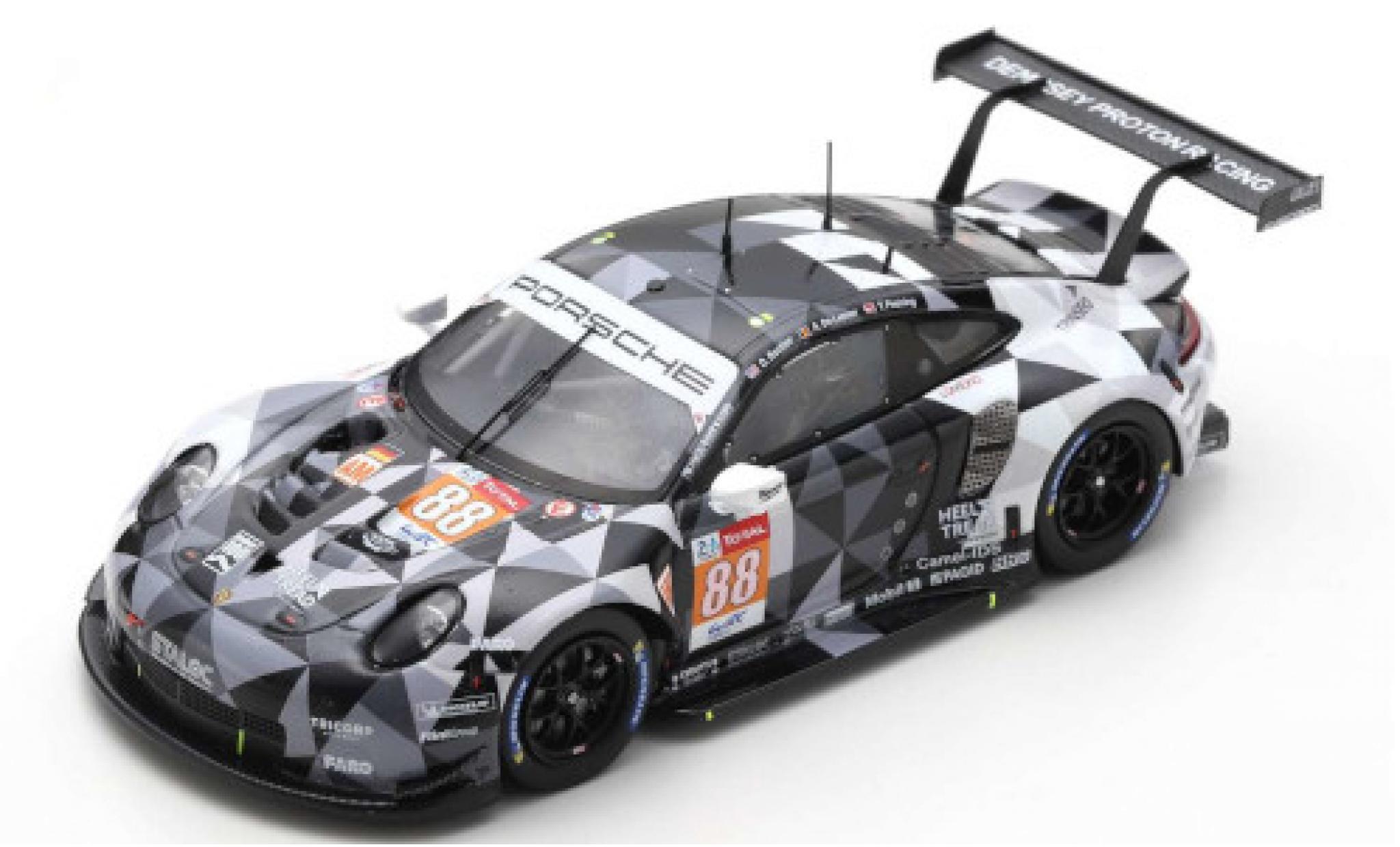 Porsche 992 RSR 1/43 Spark 911 No.88 Dempsey-Predon Racing 24h Le Mans 2020 D.Bastien/A.De Leener/T.Preining