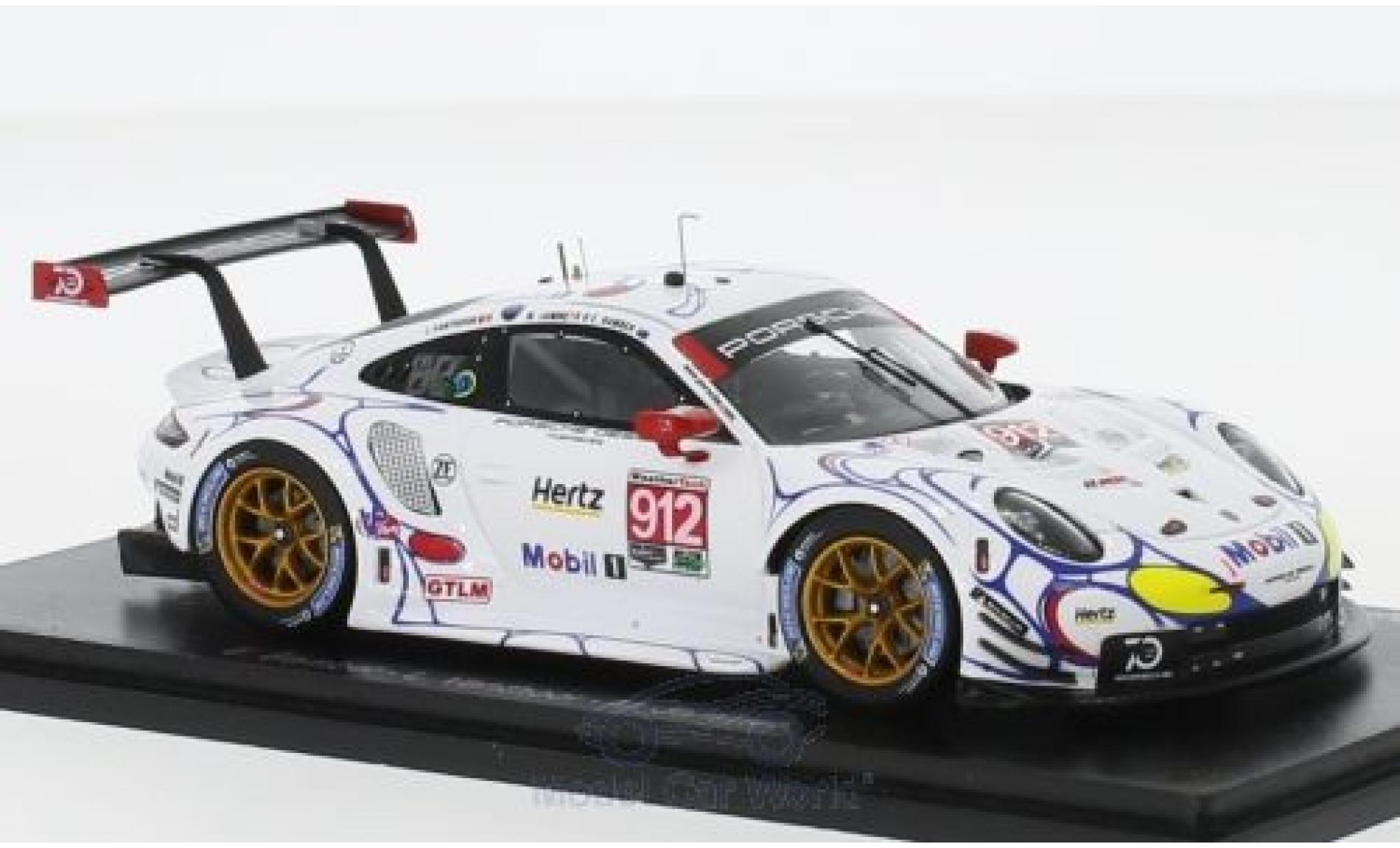 Porsche 991 RSR 1/43 Spark 911 No.912 GT Team Petit Le Mans 2018 E.Bamber/L.Vanthoor/M.Jaminet
