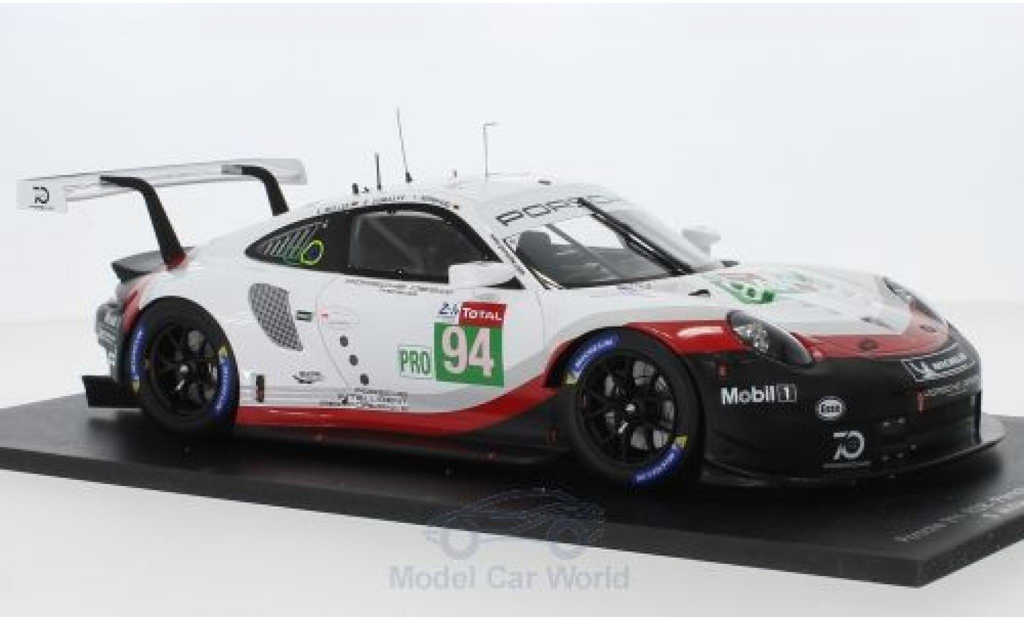 Porsche 911 1/18 Spark RSR No.94 GT Team 24h Le Mans 2018 R.Dumas/T.Bernhard/S.Müller