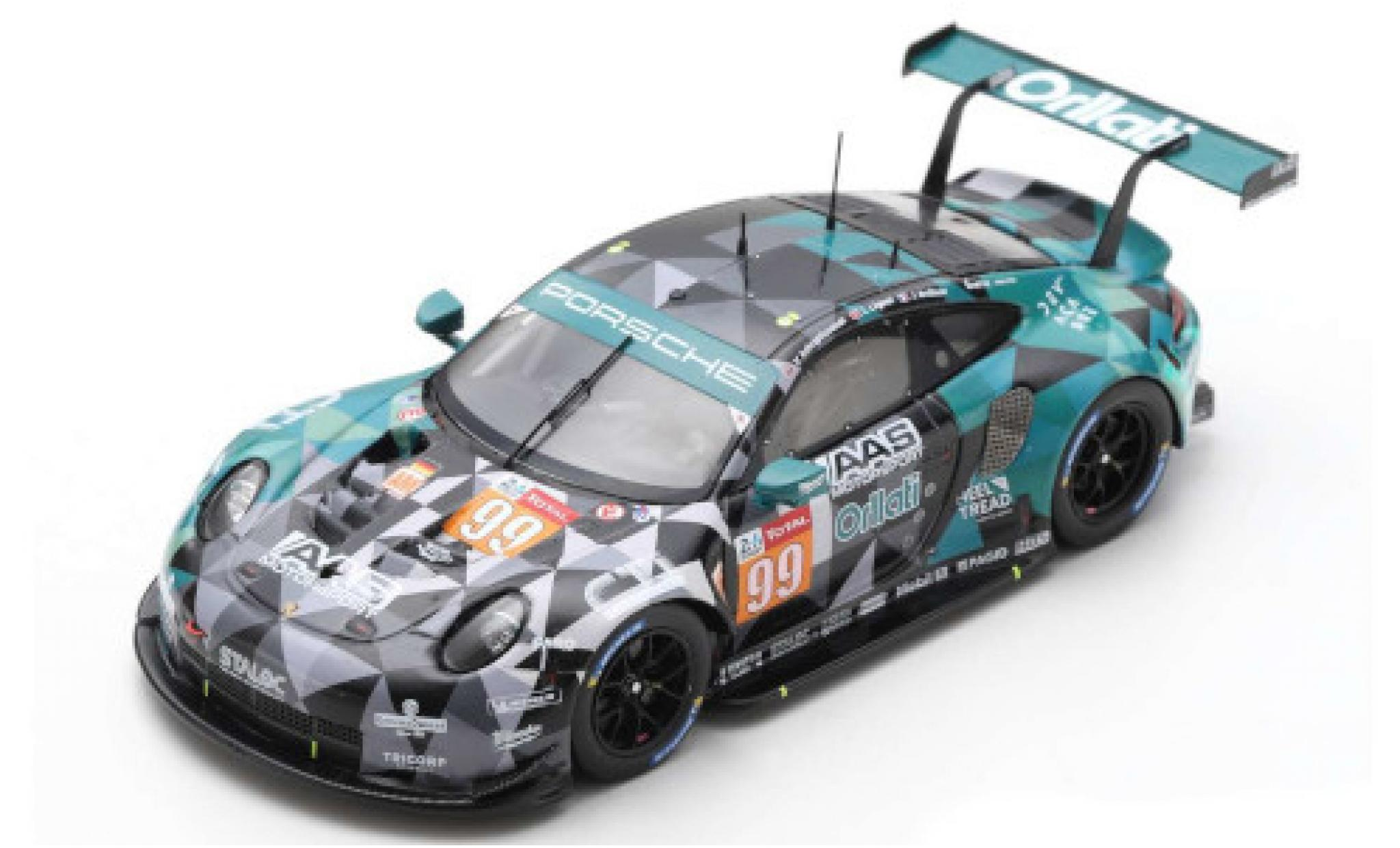 Porsche 992 RSR 1/43 Spark 911 No.99 Dempsey-Prougeon Racing / AAS Motorsport Orllati 24h Le Mans 2020 J.Andlauer/V.Inthraphuvasak/L.Legeret
