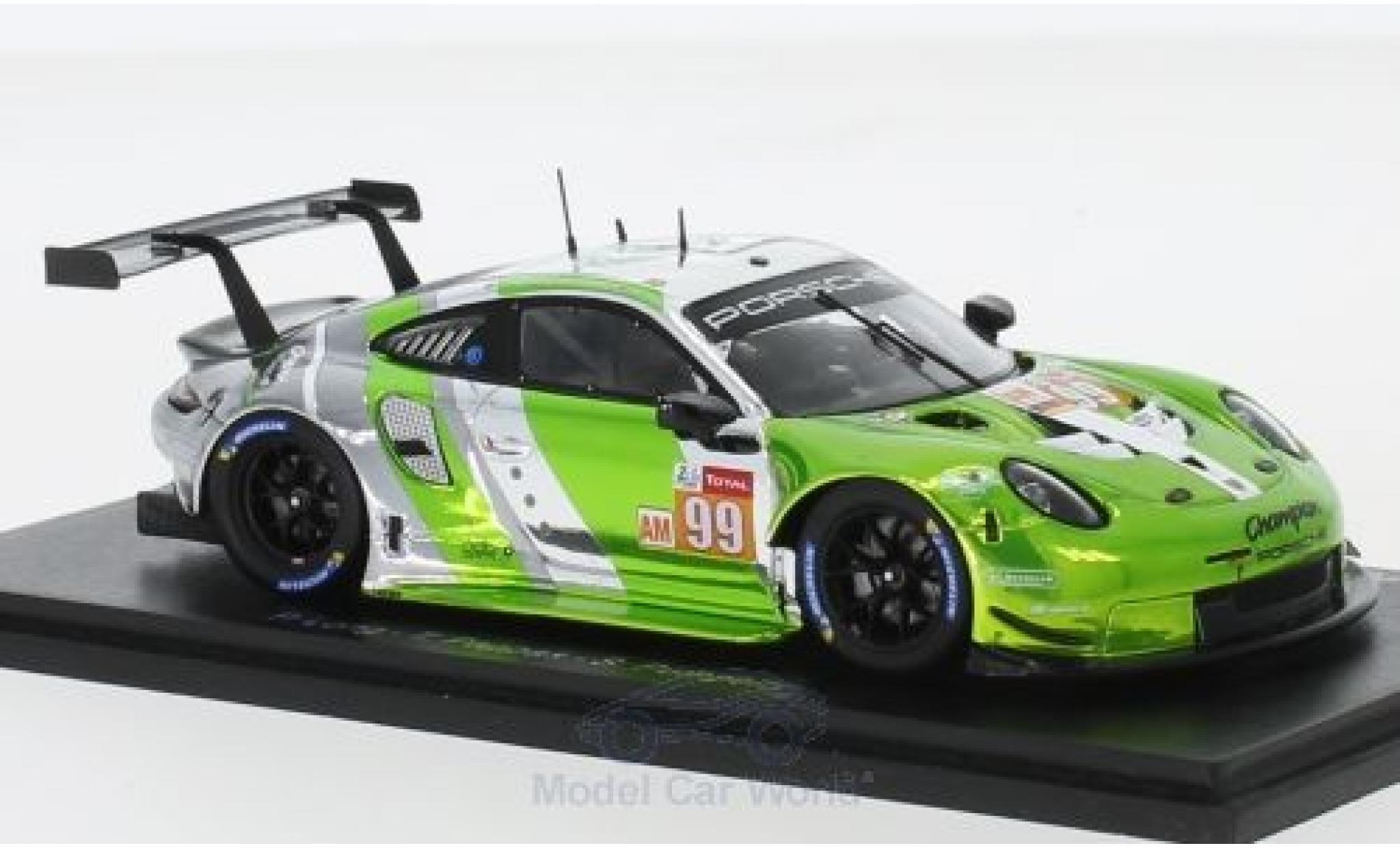 Porsche 911 1/43 Spark RSR No.99 Predon Competition 24h Le Mans 2018 P.Long/T.Pappas/S.Pumpelly