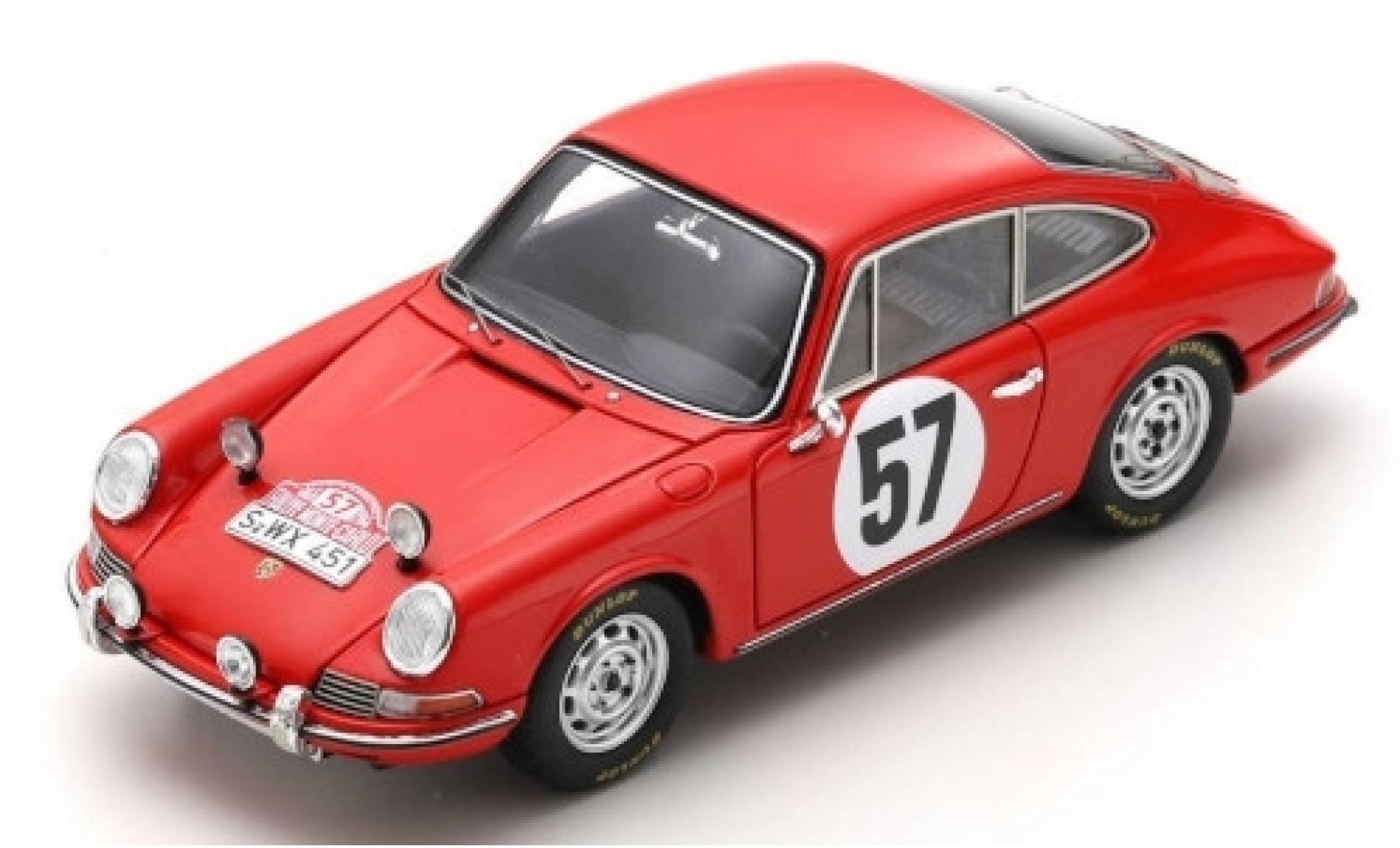 Porsche 911 1/43 Spark S No.57 Rallye Monte Carlo 1966 R.Buchet/J.Schlesser
