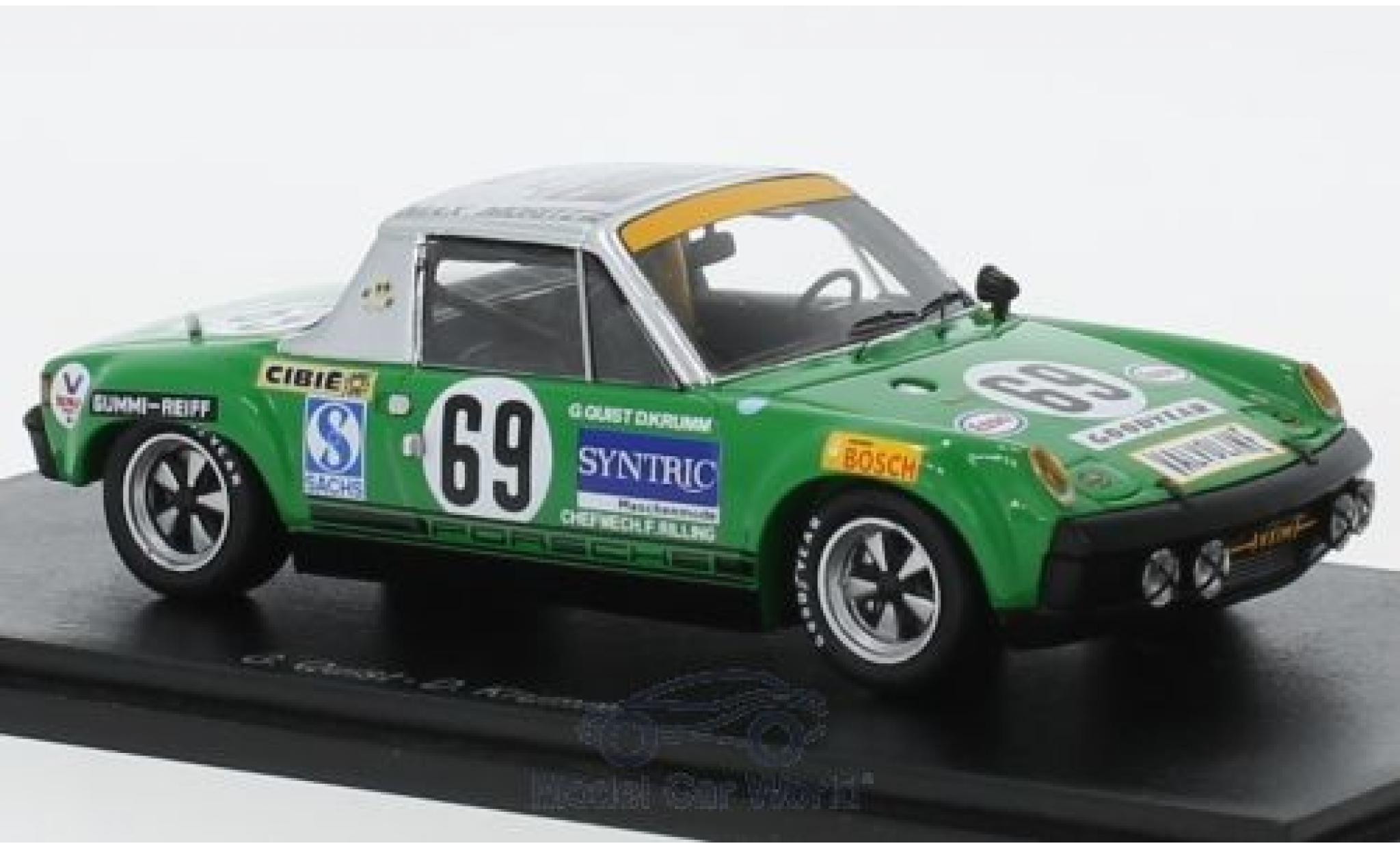 Porsche 914 1/43 Spark /6 GT No.69 24h Le Mans 1971 G.Quist/D.Krumm