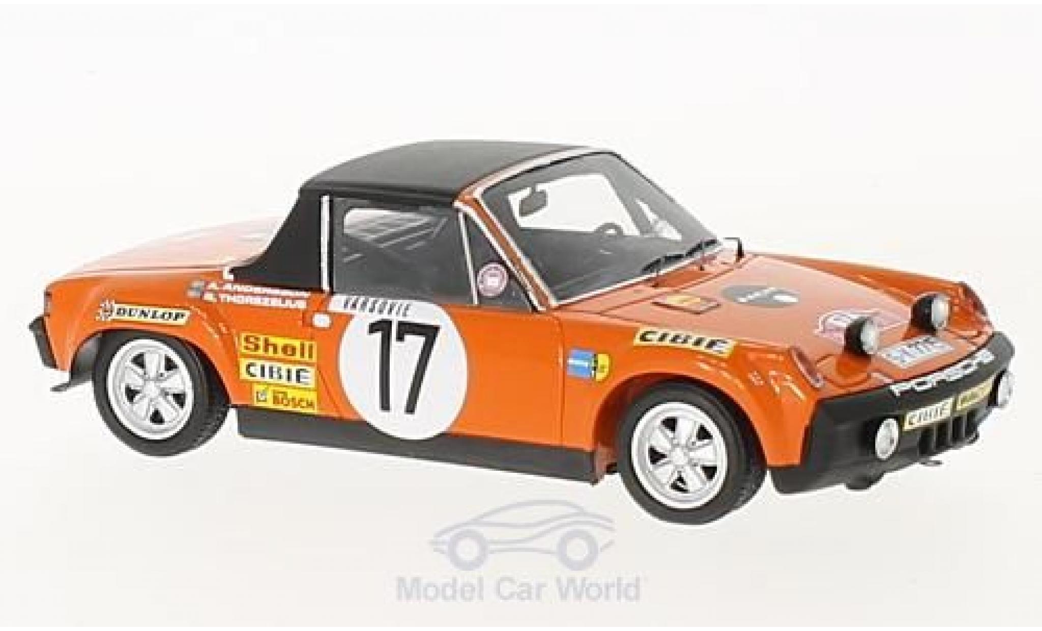 Porsche 914 1/43 Spark /6 No.17 Rallye Monte Carlo 1971 A.Andersson/B.Thorszelius