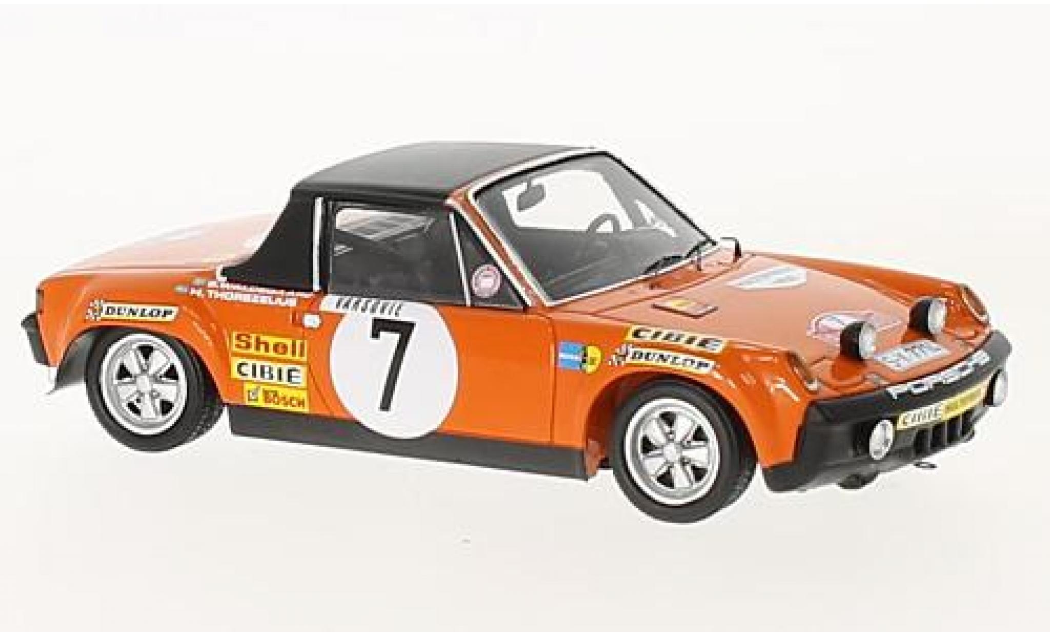 Porsche 914 1/43 Spark /6 No.7 Rallye Monte Carlo 1971 B.Waldegard/H.Thorszelius