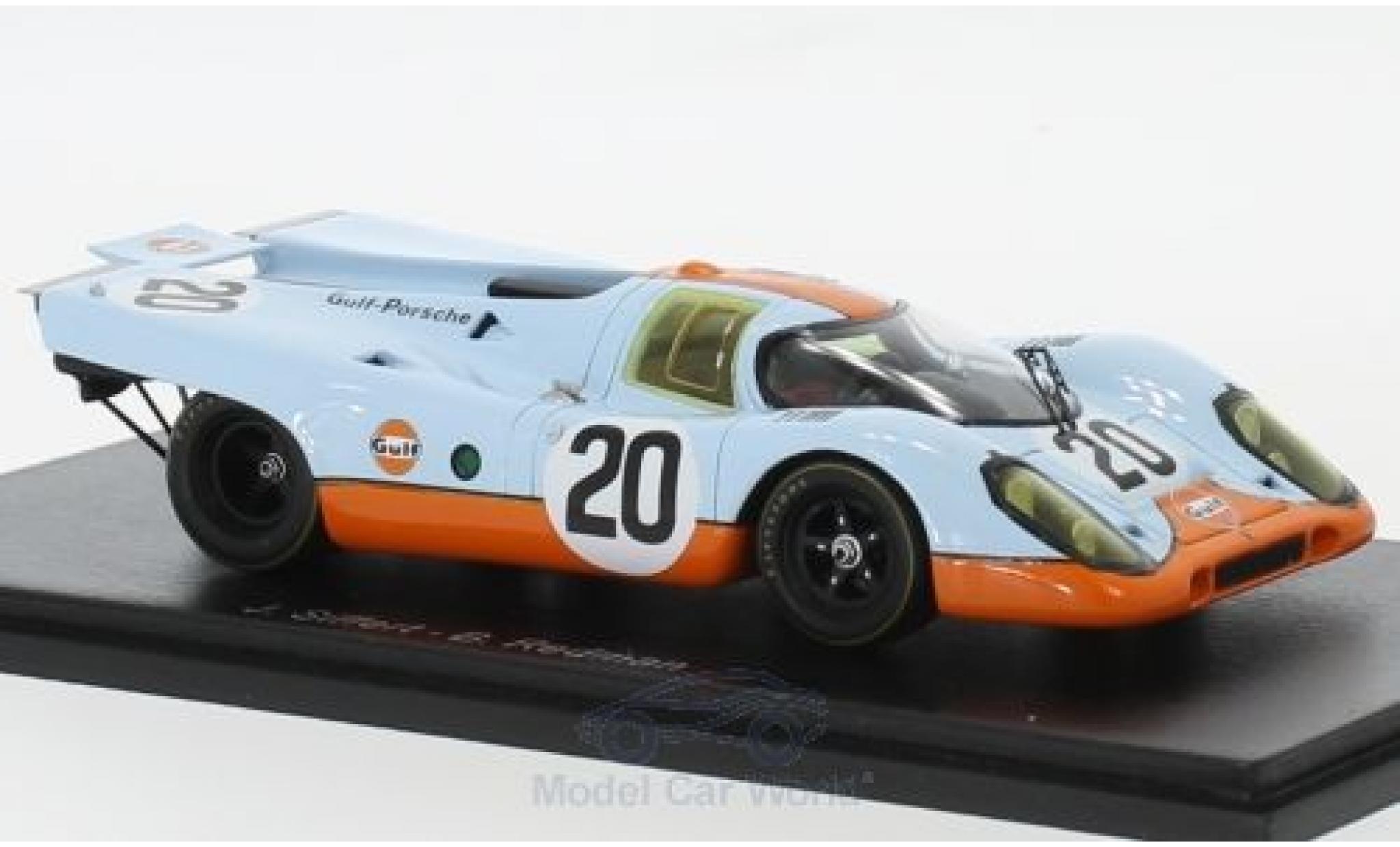 Porsche 917 1970 1/43 Spark K No.20 Gulf- Gulf 24h Le Mans B.Redman/J.Siffert