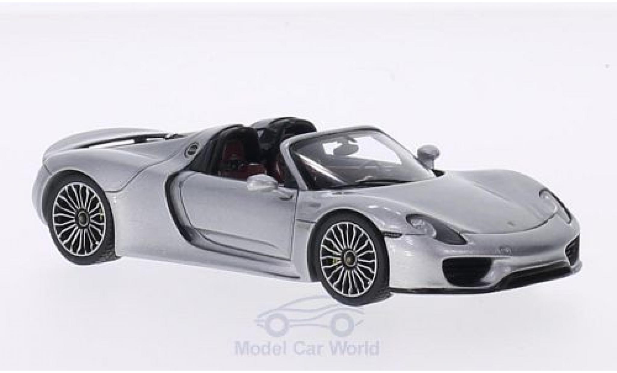 Porsche 918 1/43 Spark Spyder grise 2014