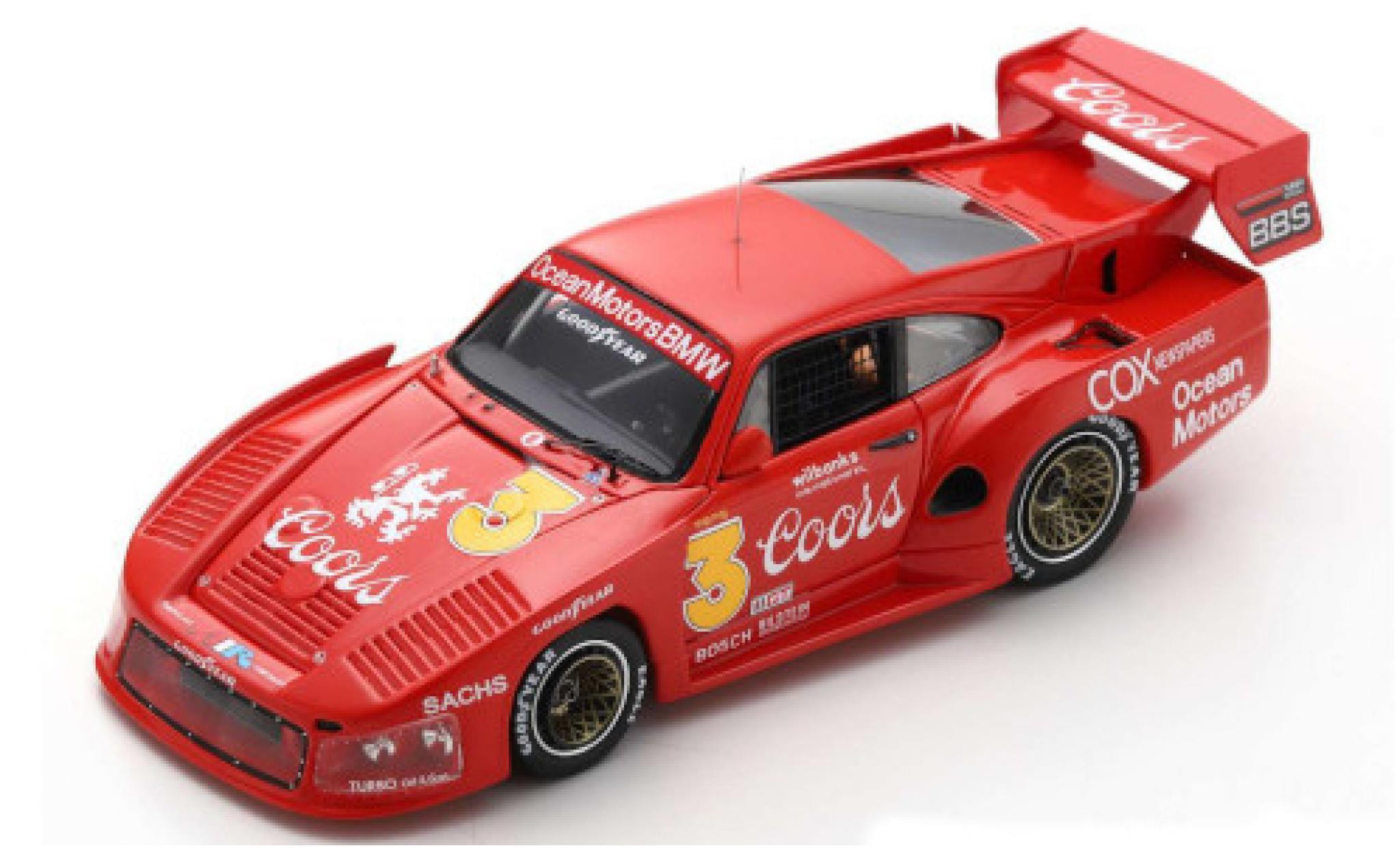 Porsche 935 1980 1/43 Spark M16 No.3 Ocean Motors Coors Portland J.Busby