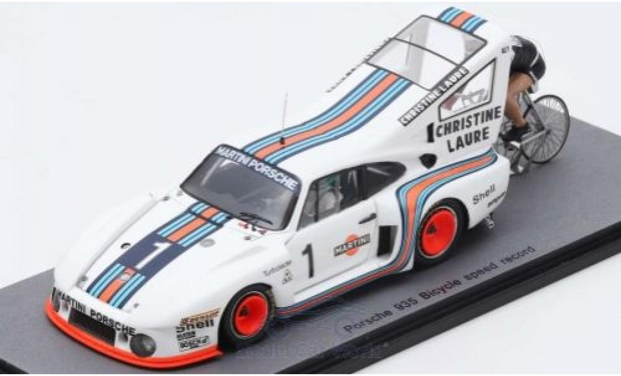 Porsche 935 1/43 Spark No.1 1977 Bicycle Speed Record Cyclist: J-C.Rude H.Pescarolo