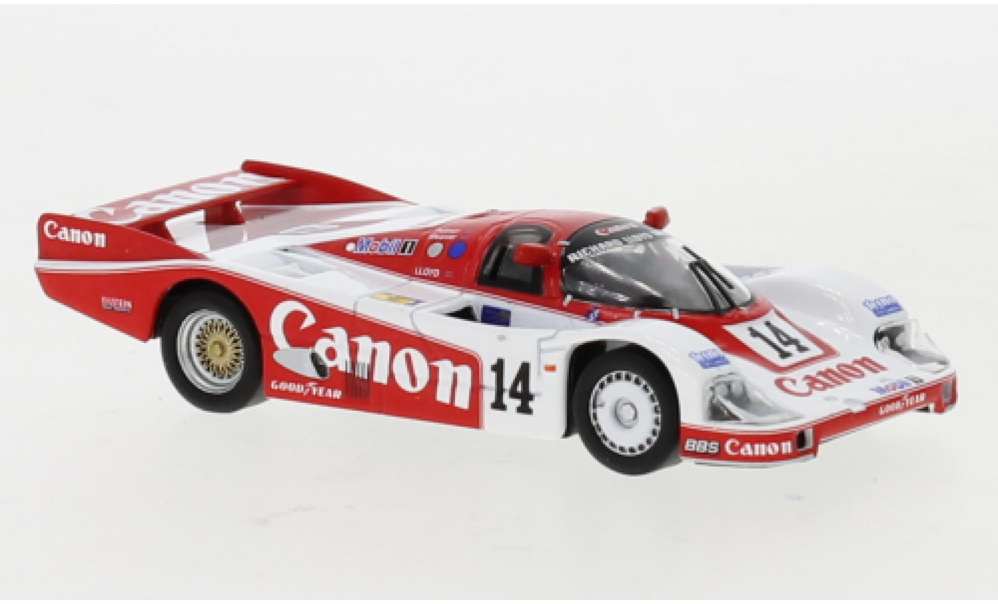 Porsche 956 1985 1/43 Spark RHD No.14 Richard Lloyd Racing Canon 24h Le Mans J.Palmer/J.Weaver/R.Lloyd