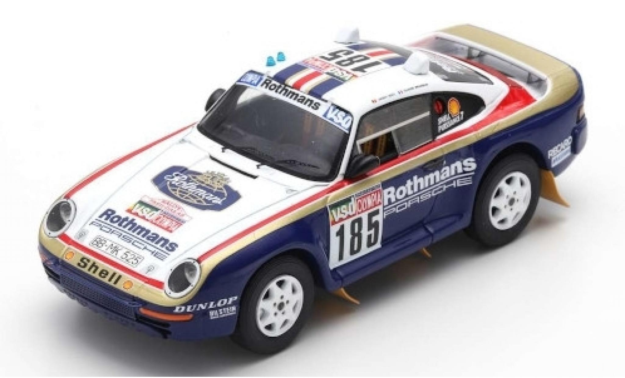 Porsche 959 1/43 Spark No.185 Rothmans Rallye Paris Dakar 1985 avec Decals J.Ickx/C.Brasseur