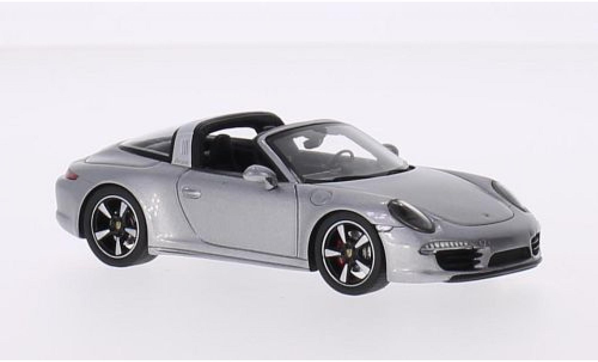 Porsche 991 Targa 1/43 Spark 4S grigio 2015
