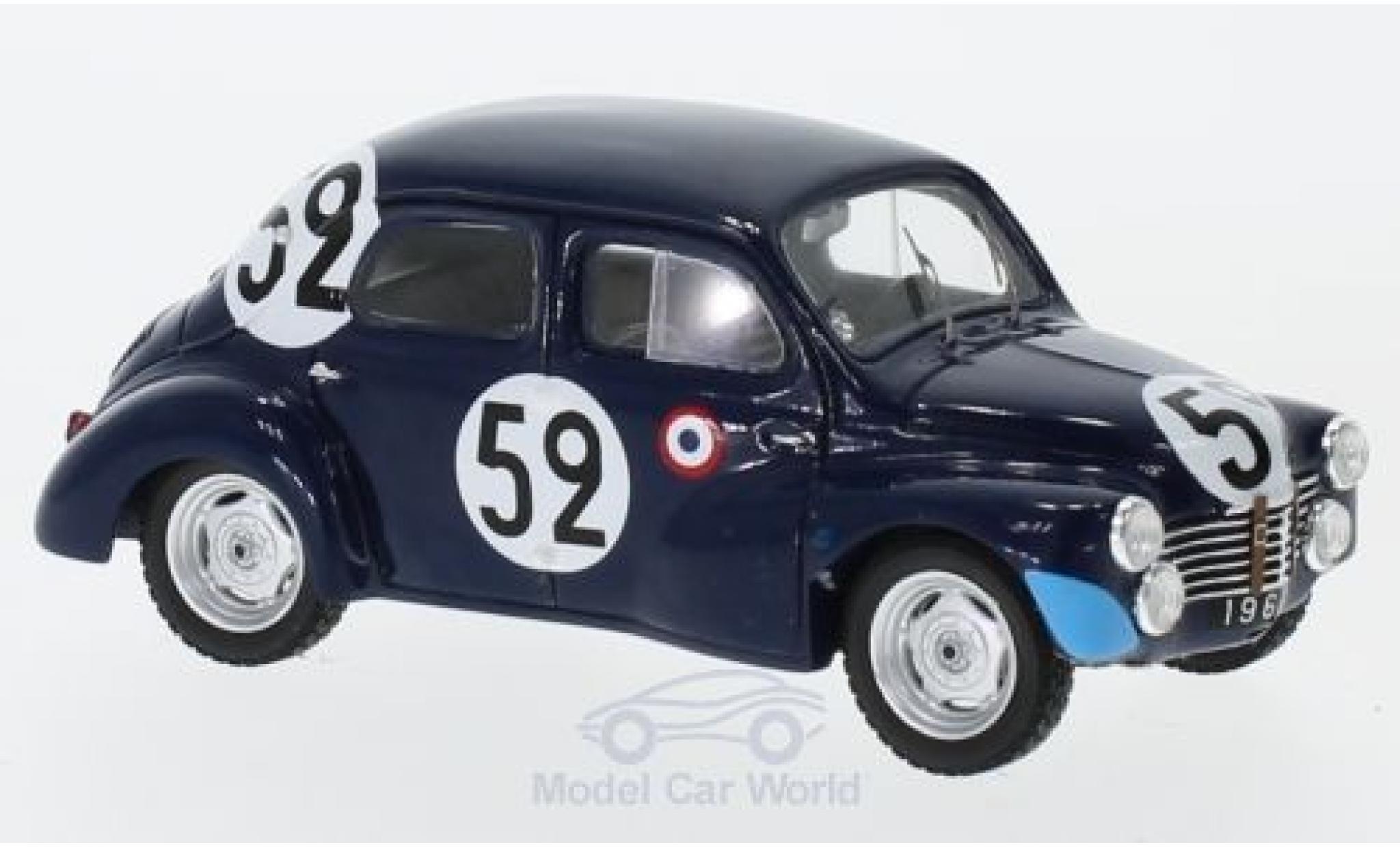 Renault 4CV 1/43 Spark 1063 No.52 24h Le Mans 1951 J.Sandt/P.Moser