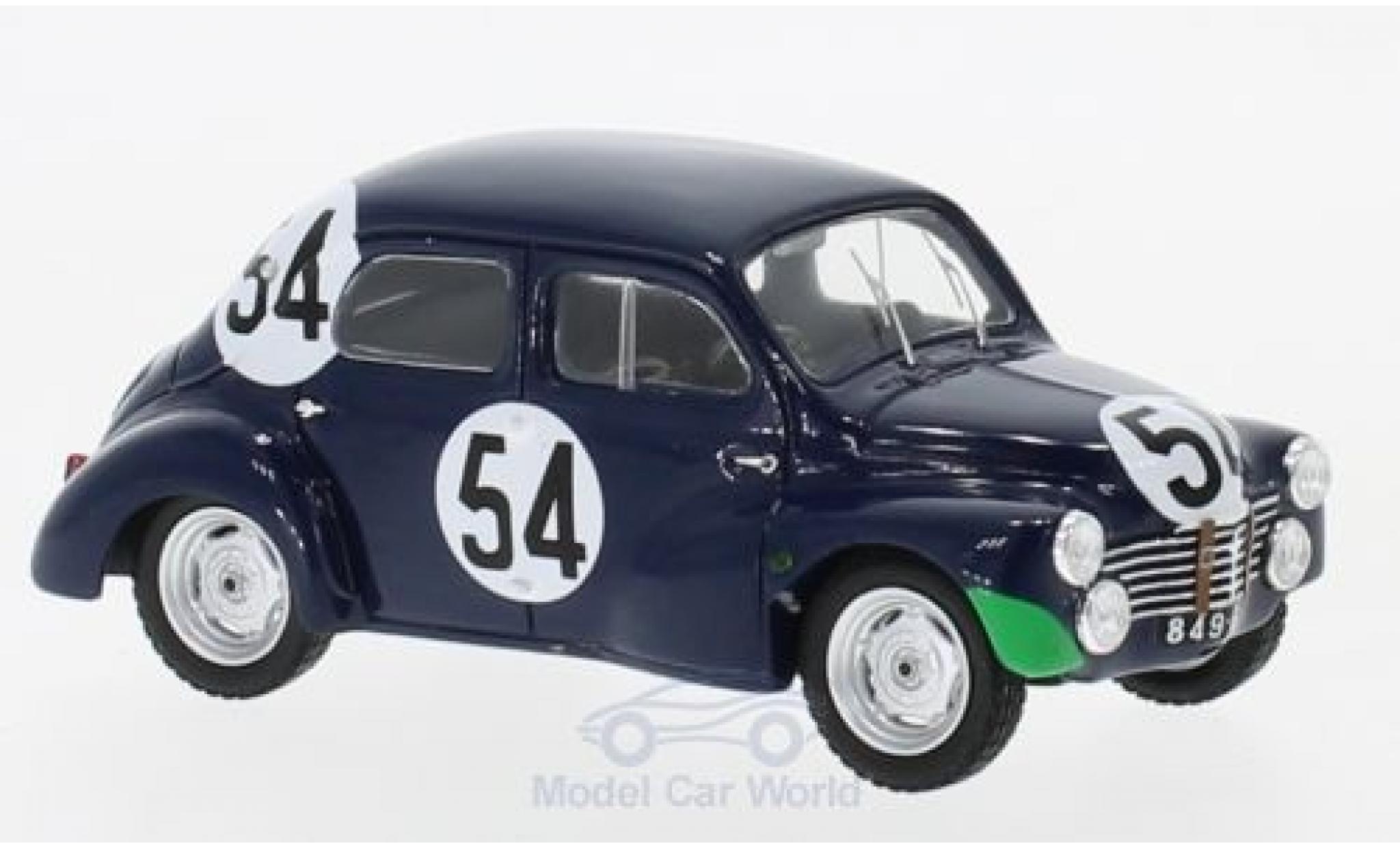 Renault 4CV 1/43 Spark 1063 No.54 24h Le Mans 1951 J.Lecat/H.Senfftleben