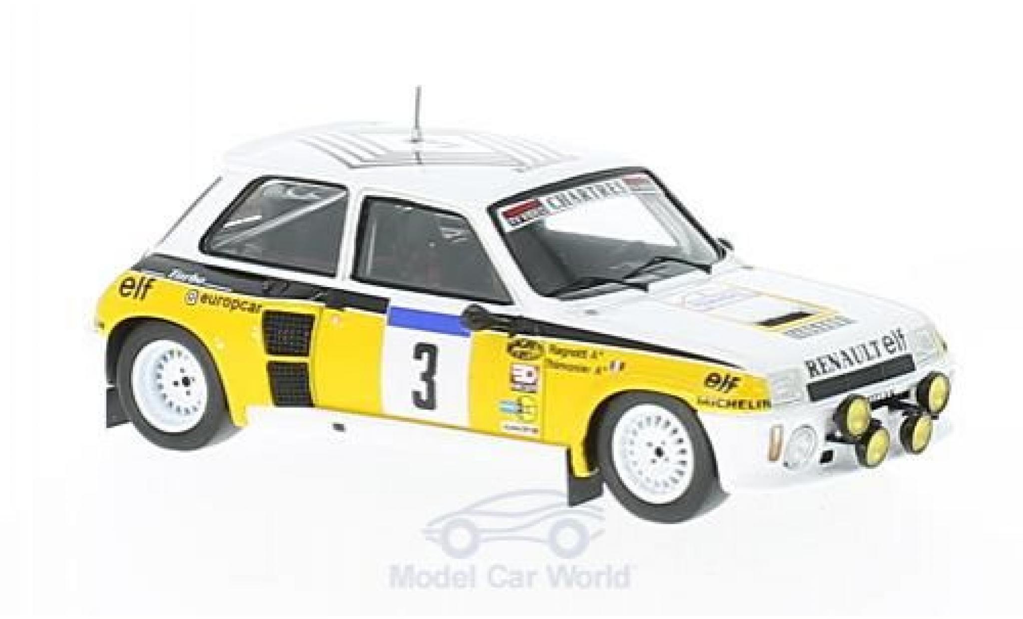 Renault 5 1/43 Spark GT Turbo No.3 Tour de France Auto 1984 J.Ragnotti/G.Thimonier