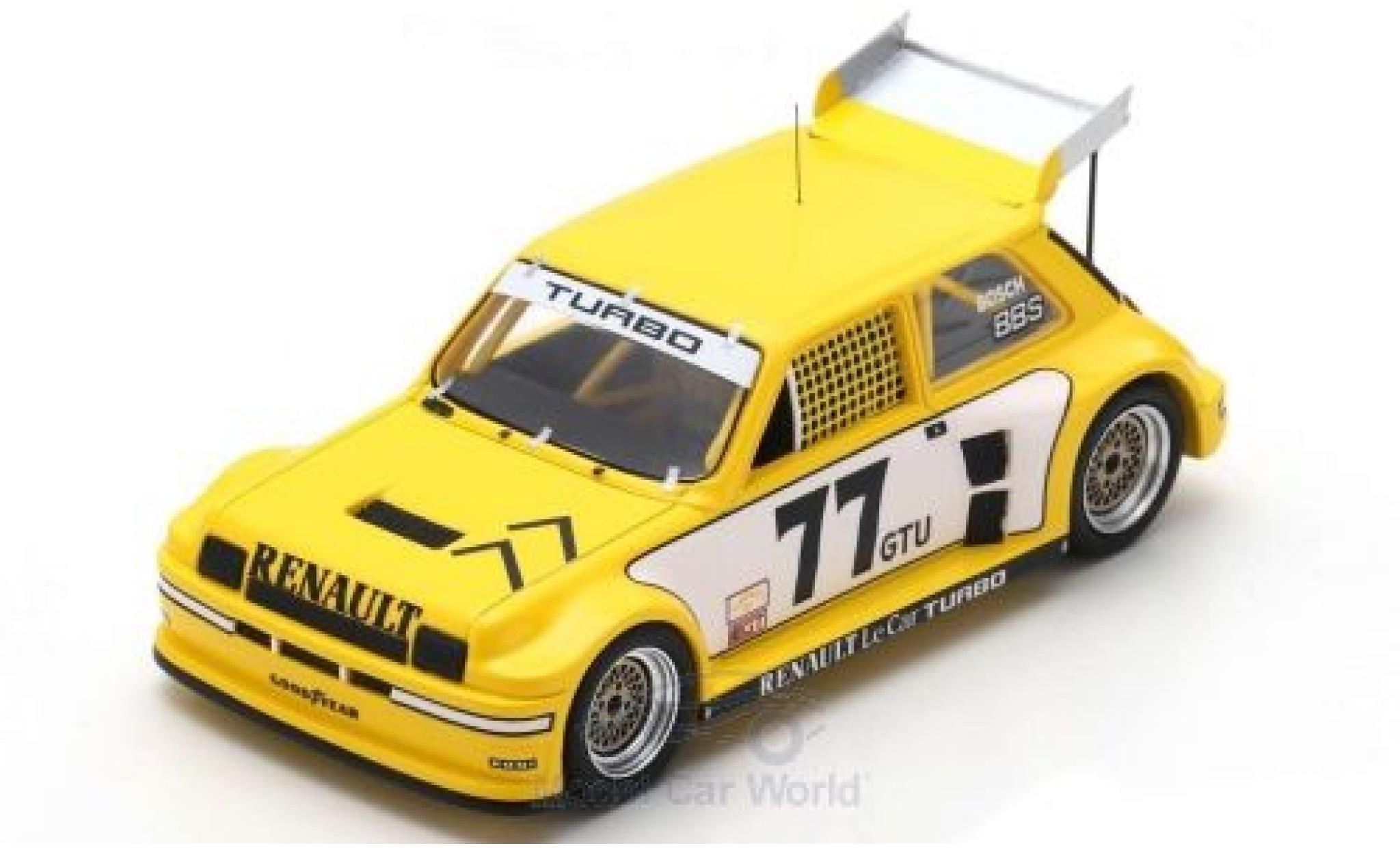 Renault 5 1/43 Spark Turbo No.77 Racing IMSA GTU Road Atlanta 1981 P.Jacquemart