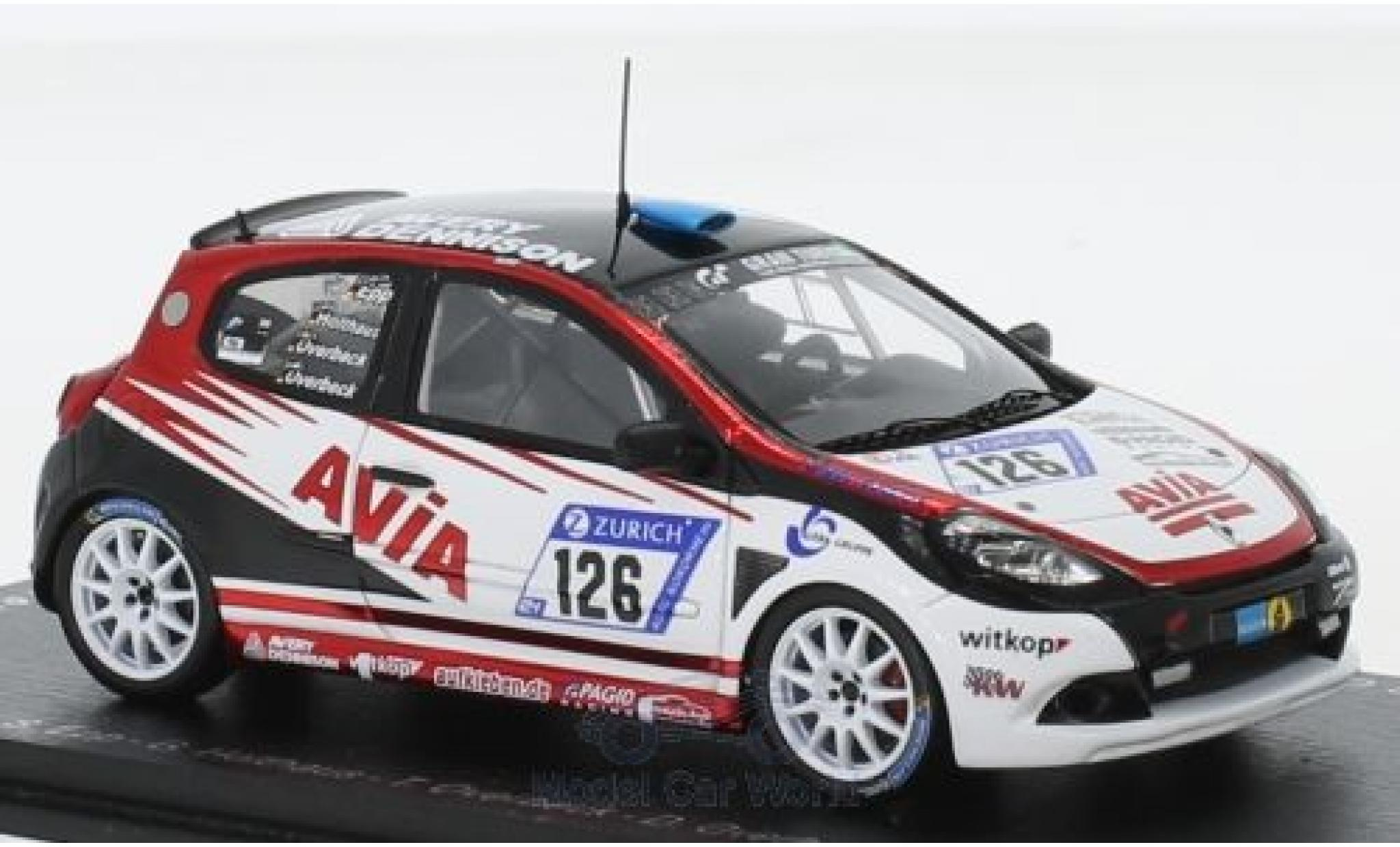 Renault Clio 1/43 Spark RS Cup No.126 Avia Racing 24h Nürburgring 2018 S.Epp/G.Holthaus/T.Overbeck/D.Overbeck