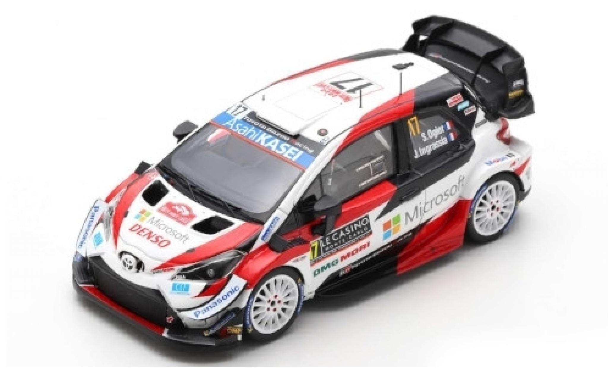 Toyota Yaris 1/43 Spark WRC No.17 Gazoo Racing WRT Microsoft WRC Rally Monte Carlo 2020 S.Ogier/J.Ingrassia