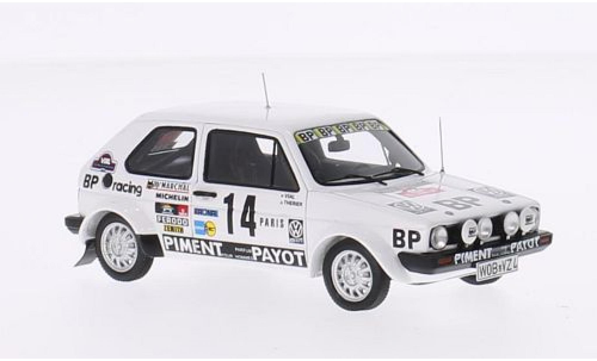 Volkswagen Golf 1/43 Spark GTI I No.14 BP Racing Rallye Monte-Carlo 1980 J-L.Therier/M.Vial
