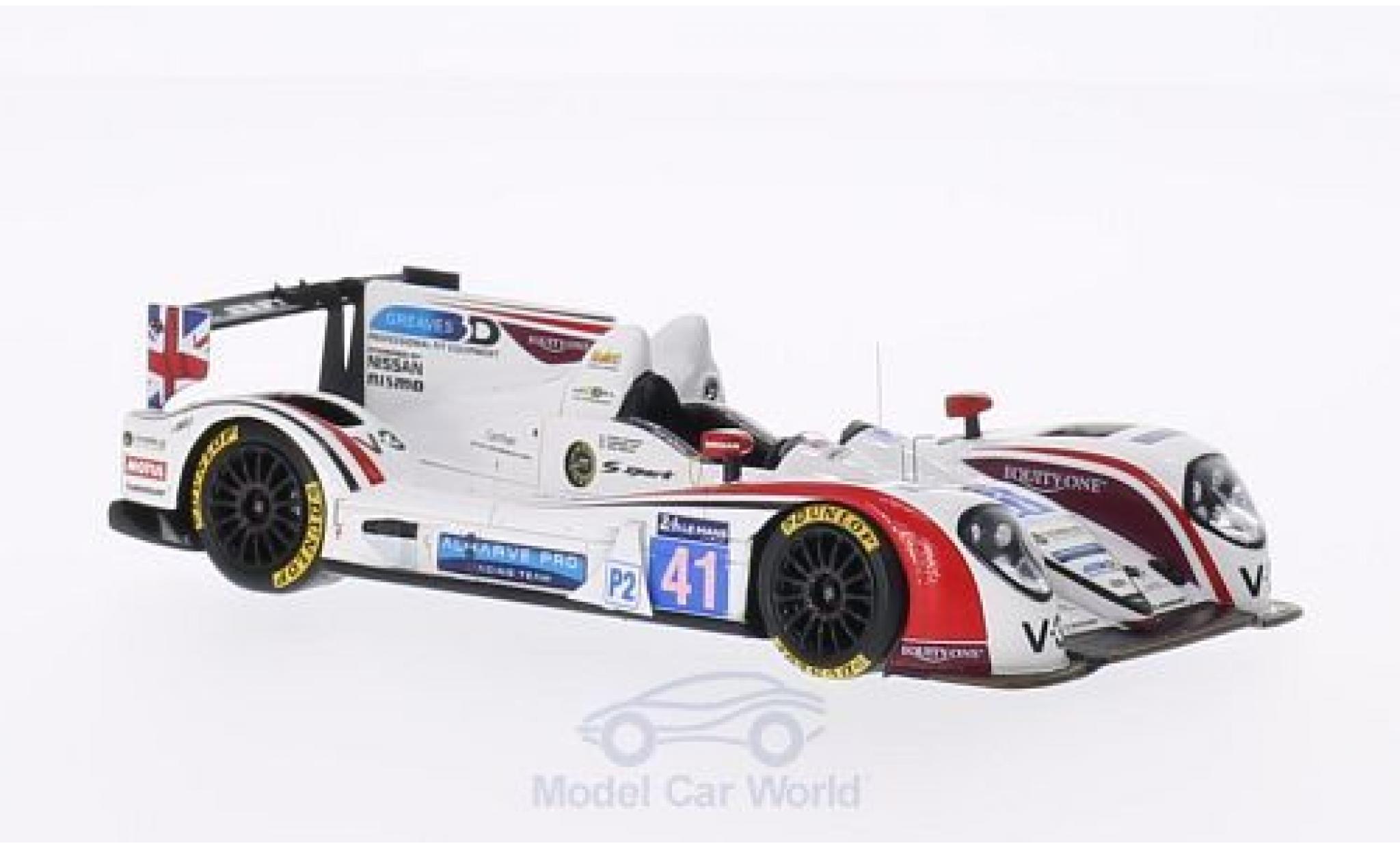 Zytek Z11SN 1/43 Spark -Nissan No.41 Greaves Motorsport 24h Le Mans 2014 M.Munemann/A.Latif/J.Winslow