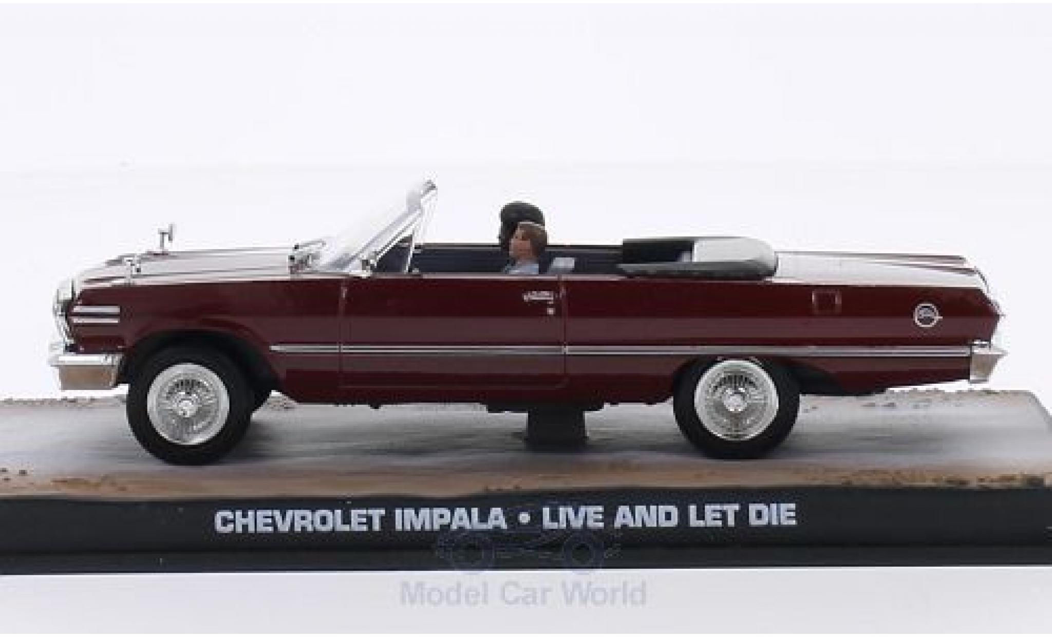 Chevrolet Impala 1/43 SpecialC 007 Convertible rouge James Bond 007 Leben und sterben lassen ohne Vitrine