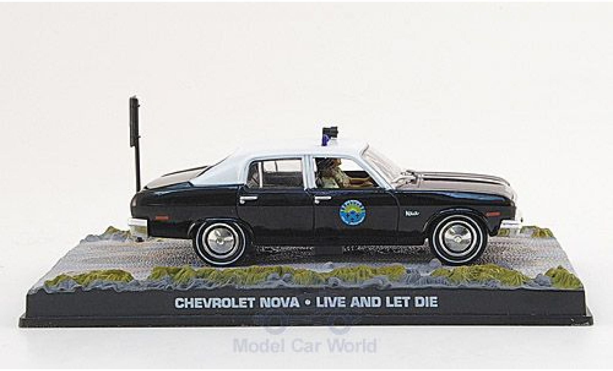 Chevrolet Nova 1/43 SpecialC 007 black/white James Bond 007 1973 Police Leben und sterben lassen ohne Vitrine