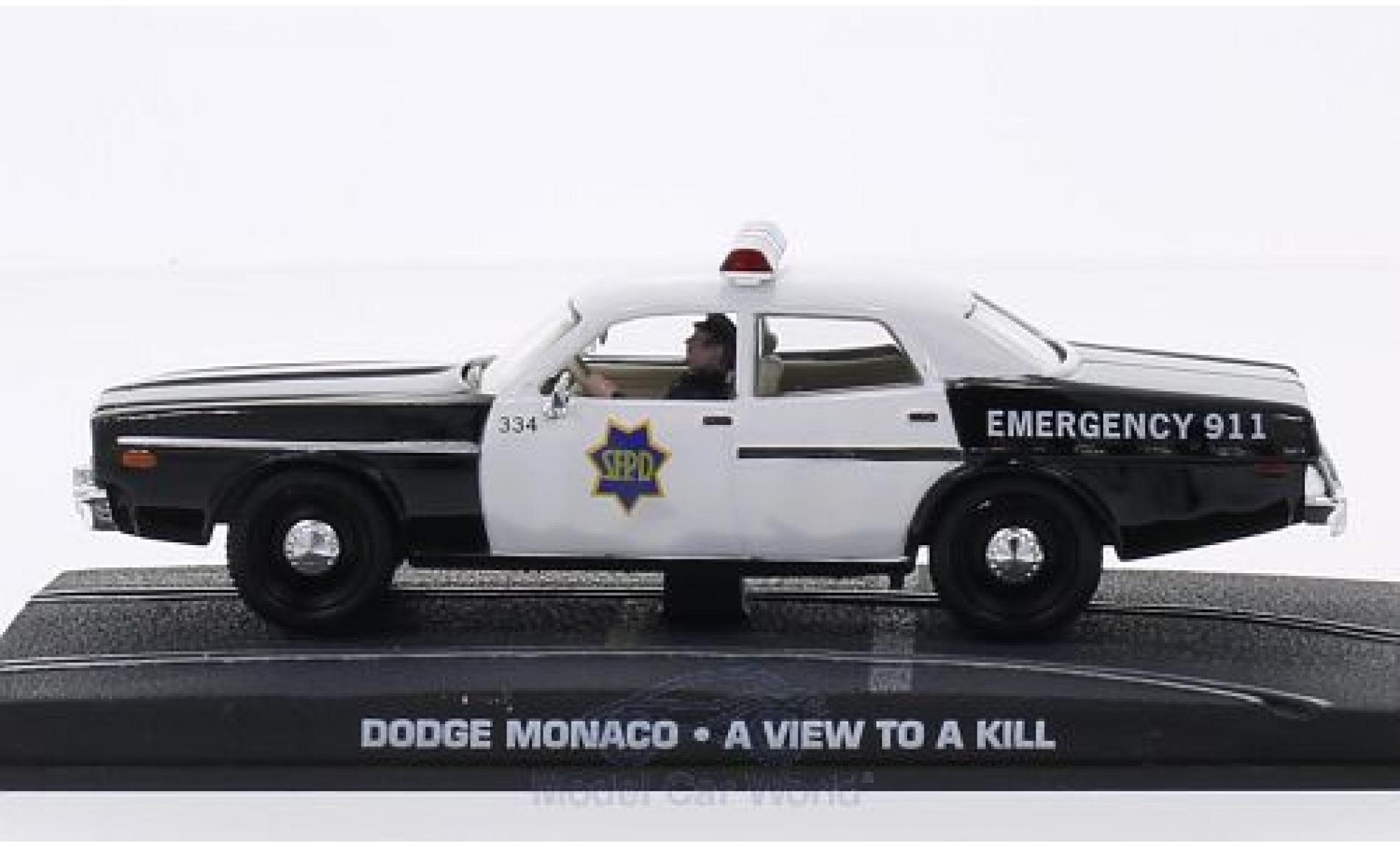 Dodge Monaco 1/43 SpecialC 007 James Bond 007 Im Angesicht des Todes ohne Vitrine
