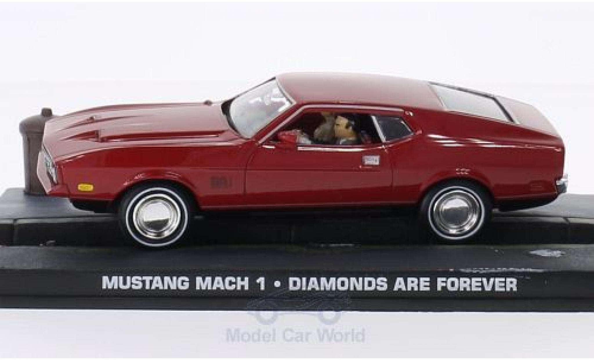 Ford Mustang 1/43 SpecialC 007 Mach 1 rouge James Bond 007 1965 Diamantenfieber ohne Vitrine