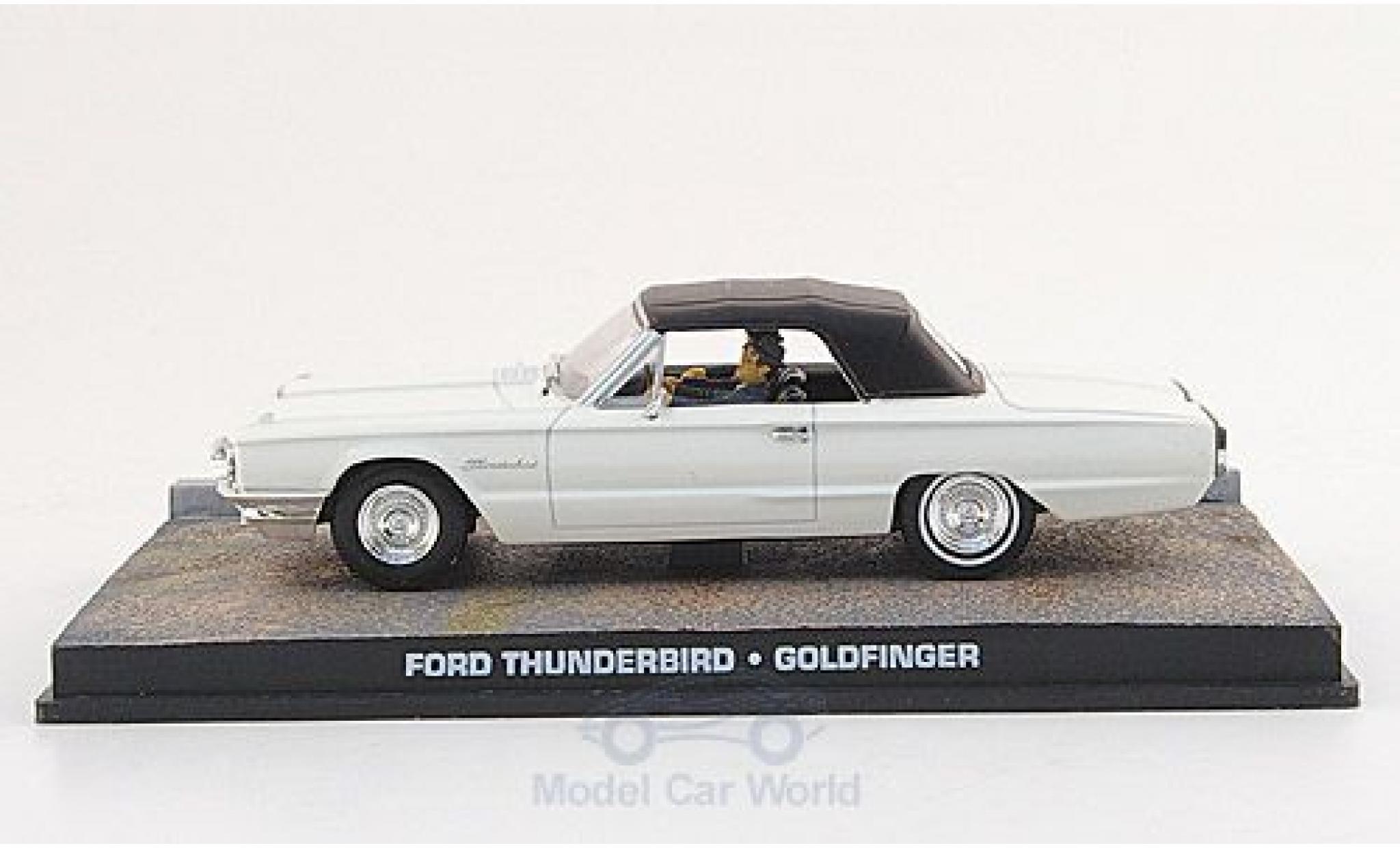 Ford Thunderbird 1/43 SpecialC 007 m. Figuren white James Bond 007 1964 Goldfinger ohne Vitrine