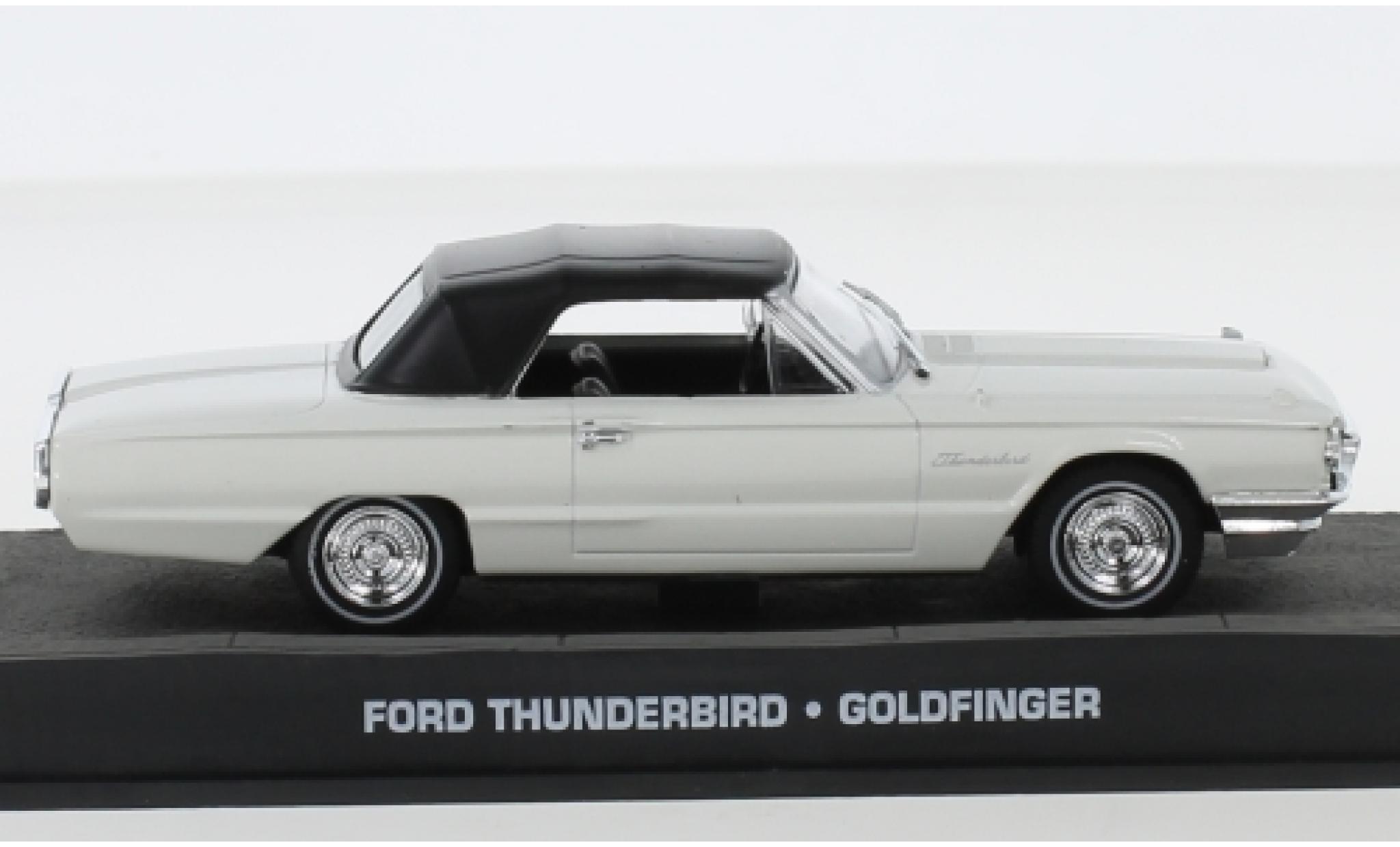 Ford Thunderbird 1/43 SpecialC 007 blanche James Bond 007 1964 Goldfinger sans figurines