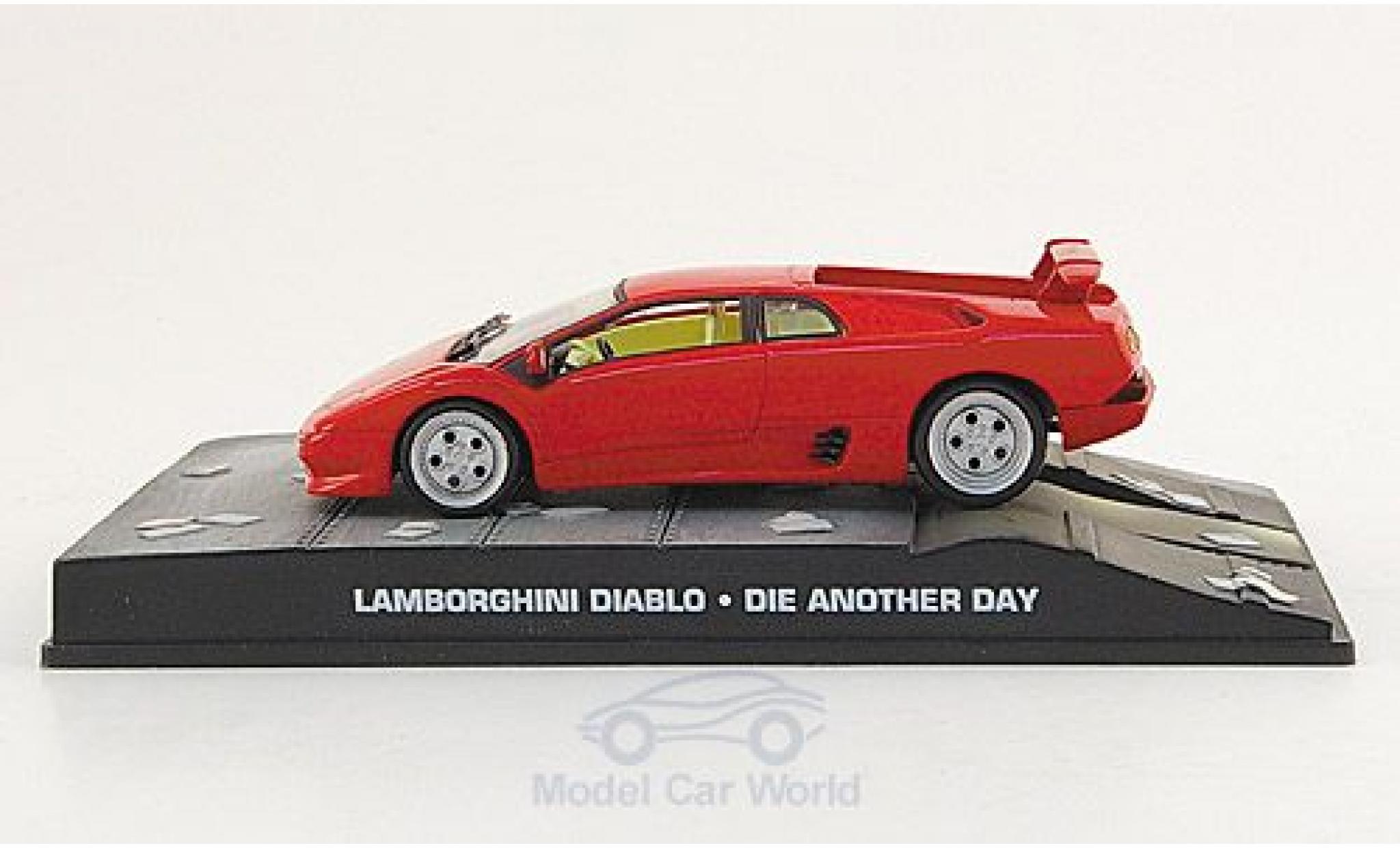 Lamborghini Diablo 1/43 SpecialC. 007 red James Bond 007 2002 Stirb an einem anderen Tag ohne Vitrine