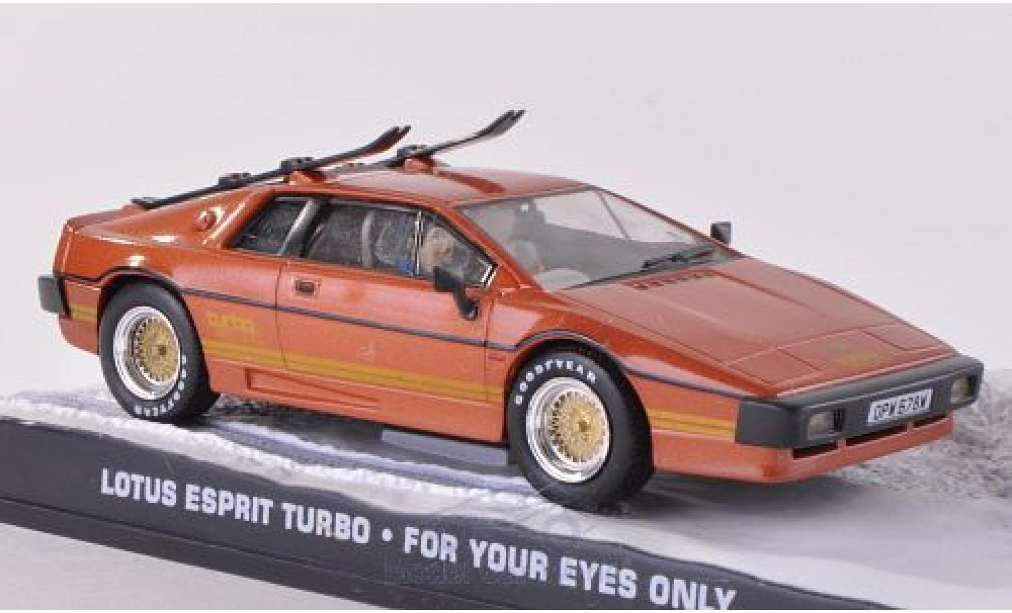 Lotus Esprit 1/43 SpecialC 007 Turbo kupfer James Bond 007 For Your Eyes Only ohne Vitrine