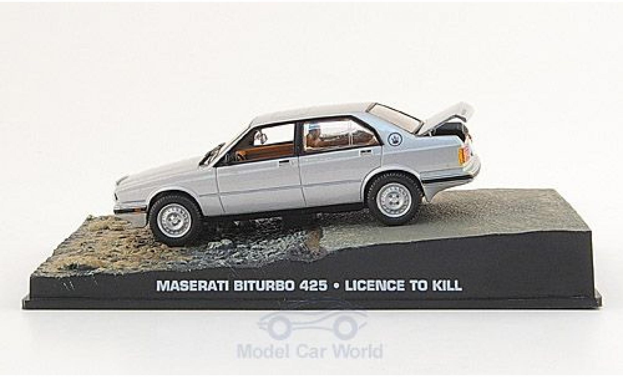 Maserati Biturbo 1/43 SpecialC 007 425 grise James Bond 007 1989 Lizenz zum Töten ohne Vitrine