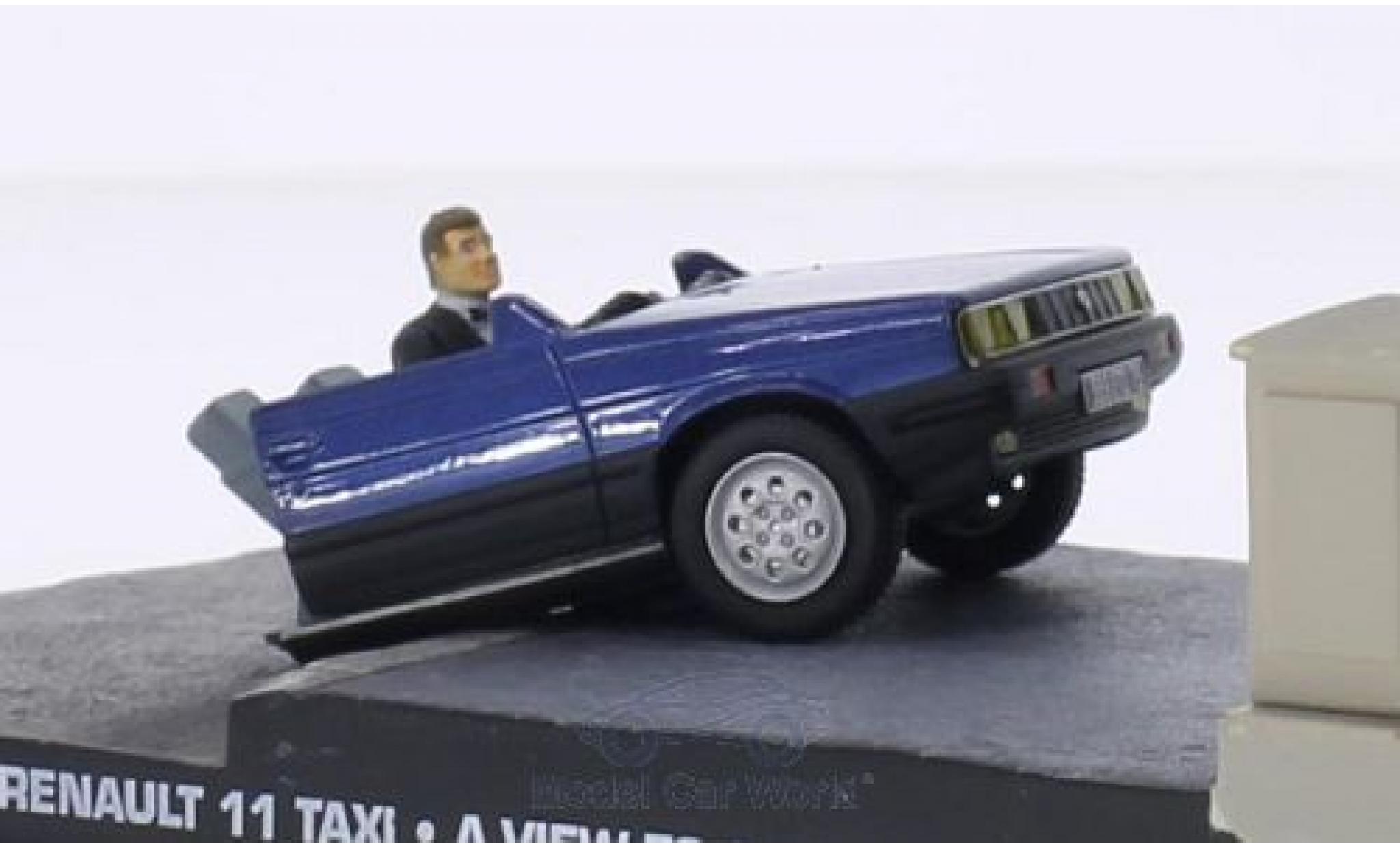 Renault 11 1/43 SpecialC 007 Taxi Half Car James Bond 007 Im Angesicht des Todes ohne Vitrine